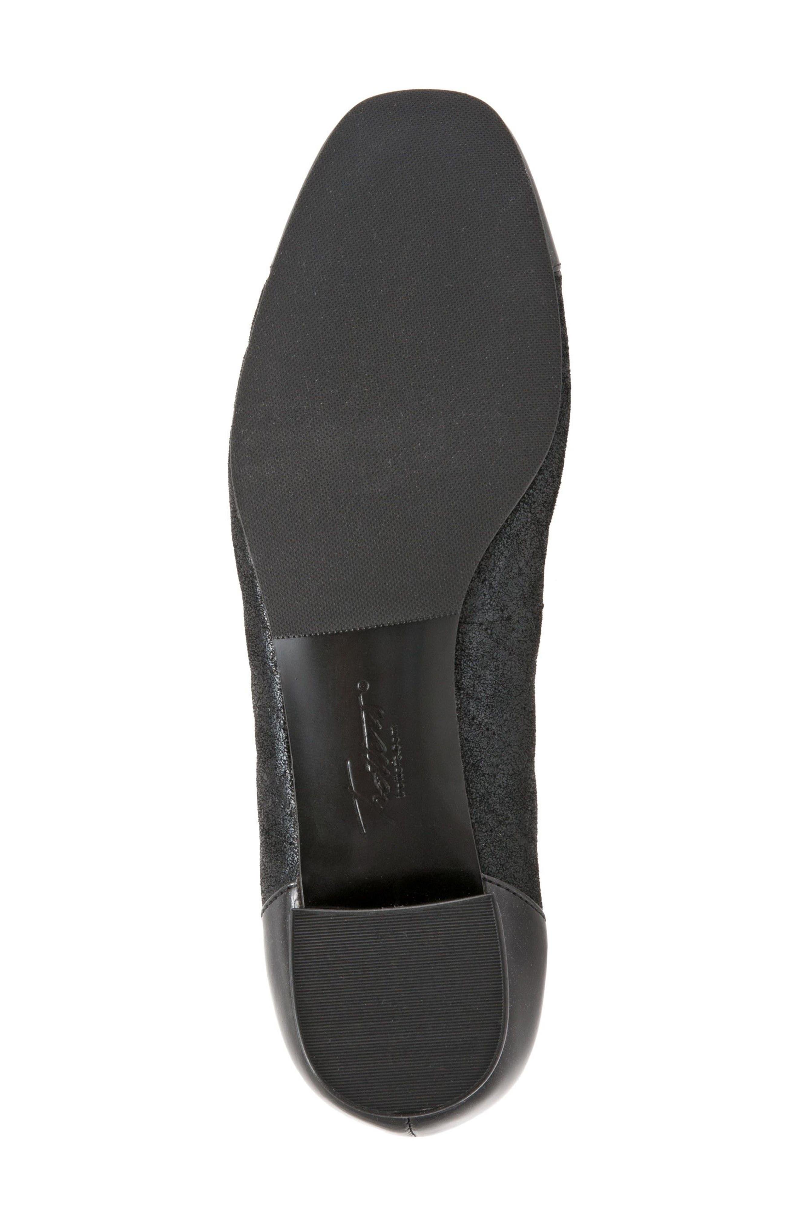 'Signature Danelle' Pump,                             Alternate thumbnail 6, color,                             Black Leather