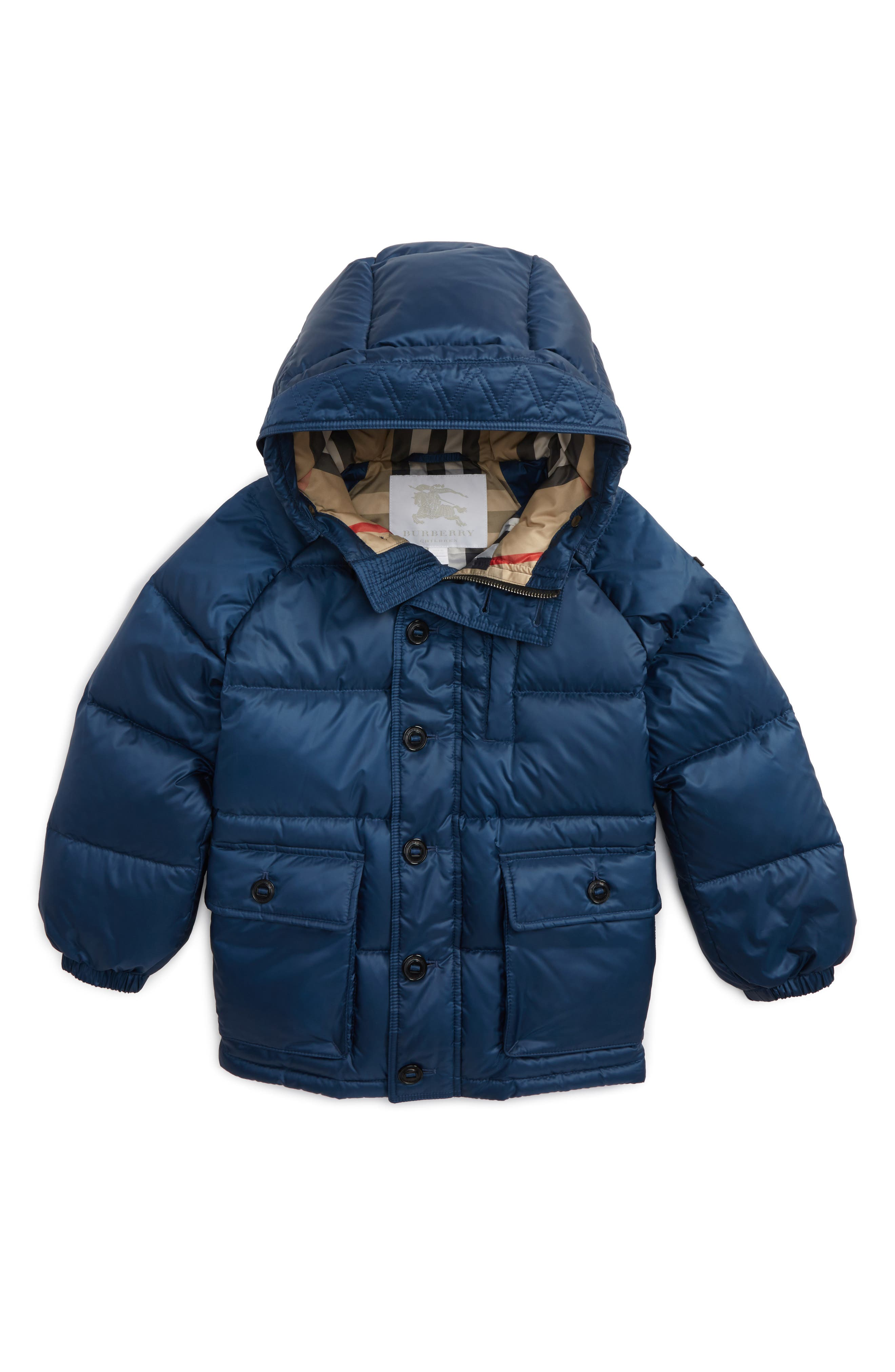 Lachlan Hooded Down Jacket,                         Main,                         color, Ink Blue