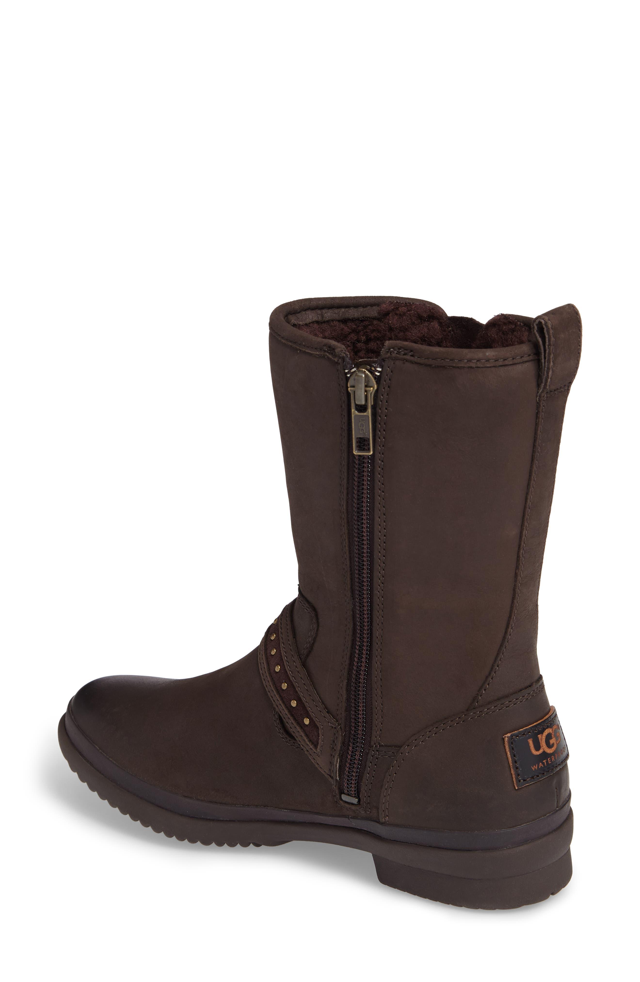 Jenise Waterproof Boot,                             Alternate thumbnail 2, color,                             Stout Leather
