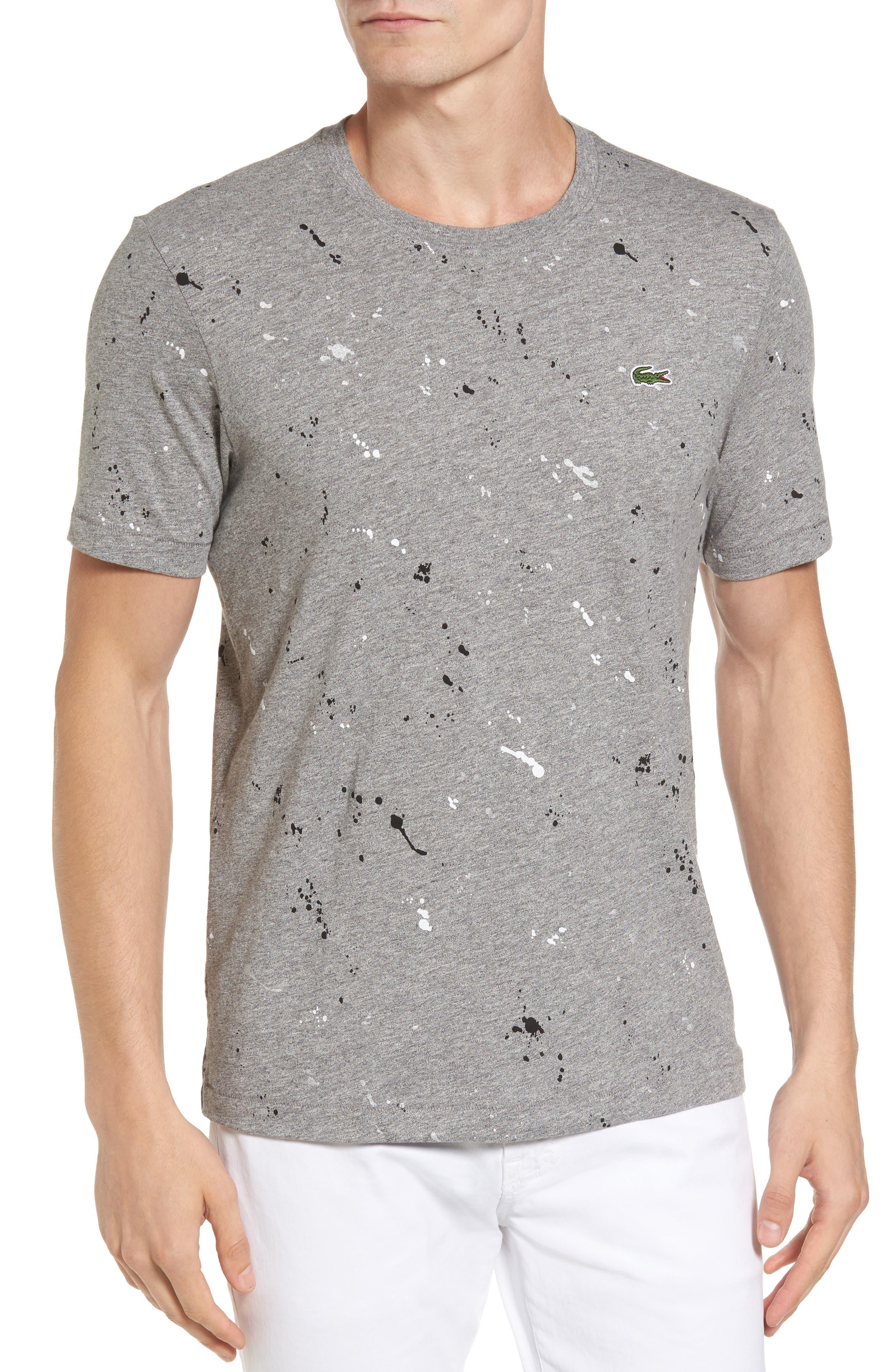 LACOSTE L!VE Splatter Print Graphic T-Shirt