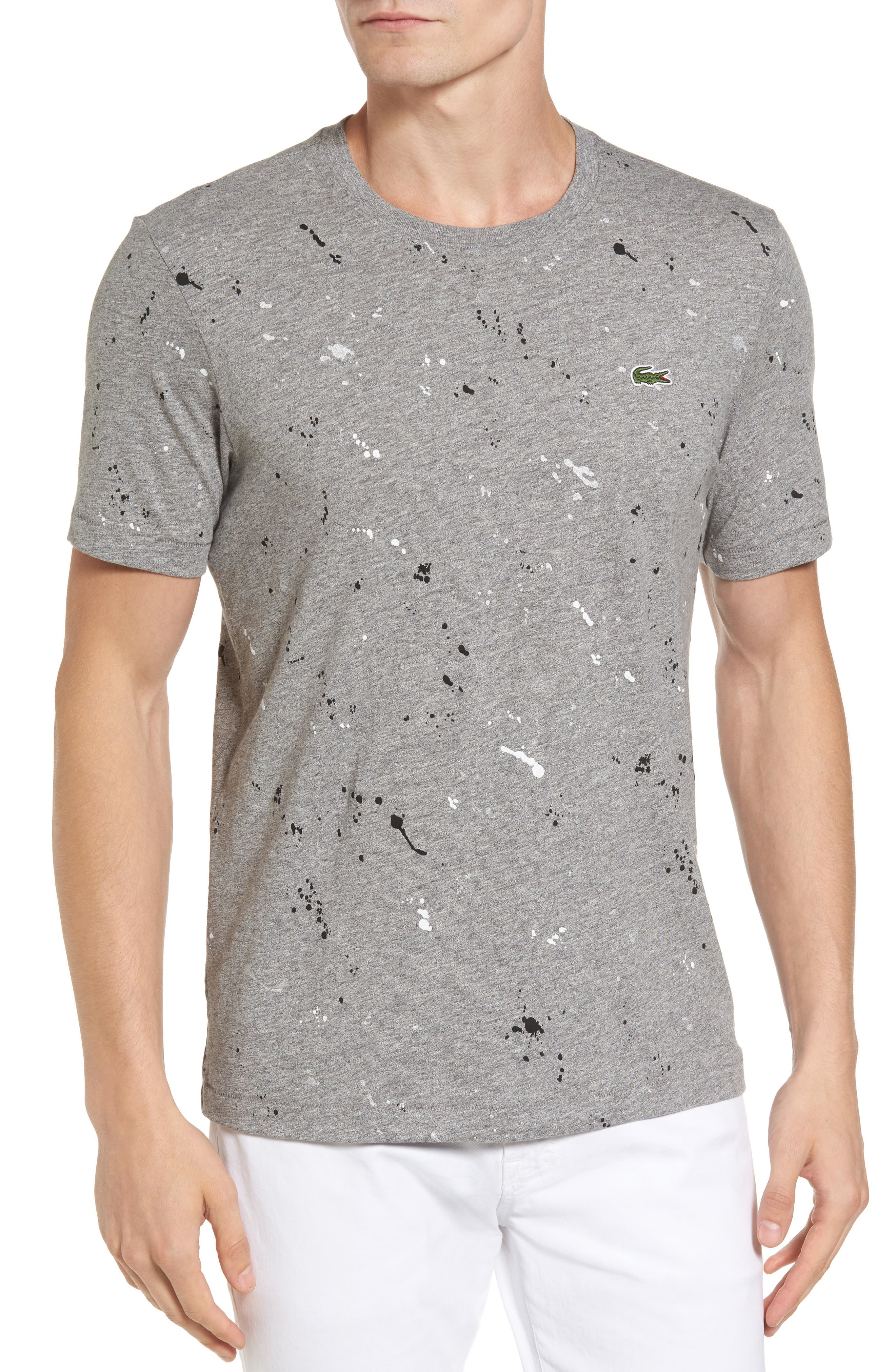 Lacoste L!VE Splatter Print Graphic T-Shirt