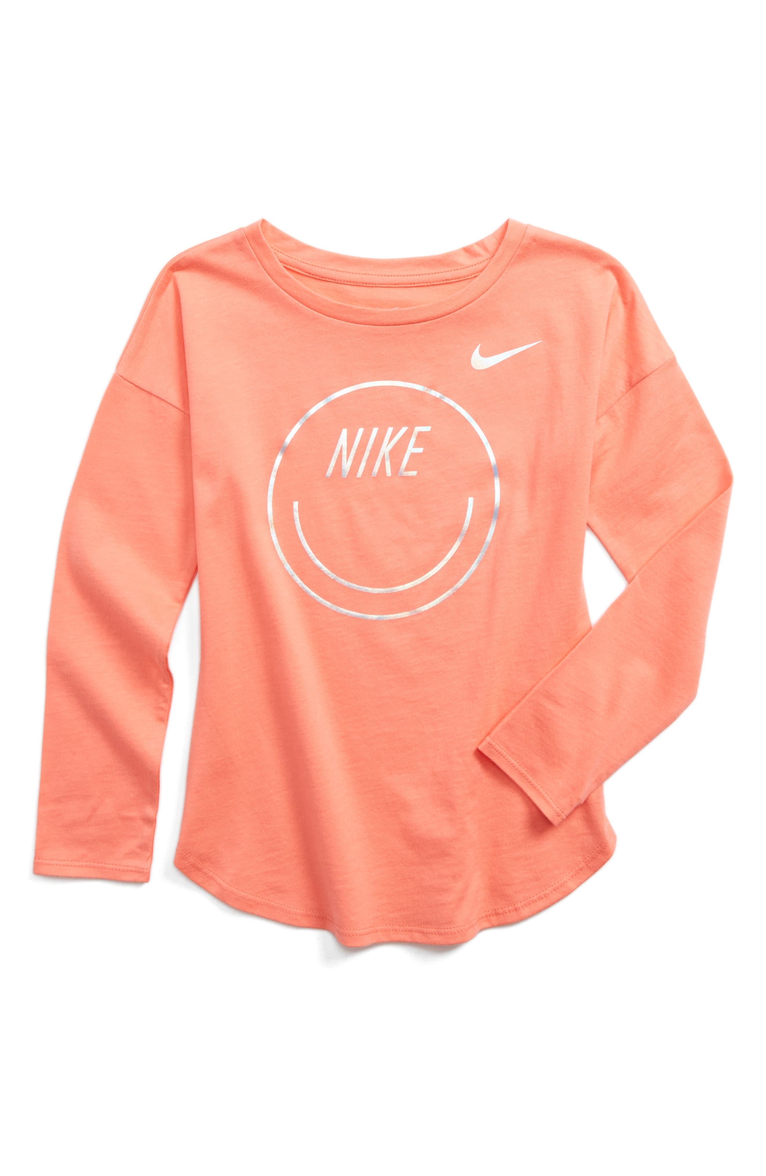 Nike Smiley Modern Tee (Toddler Girls & Little Girls)