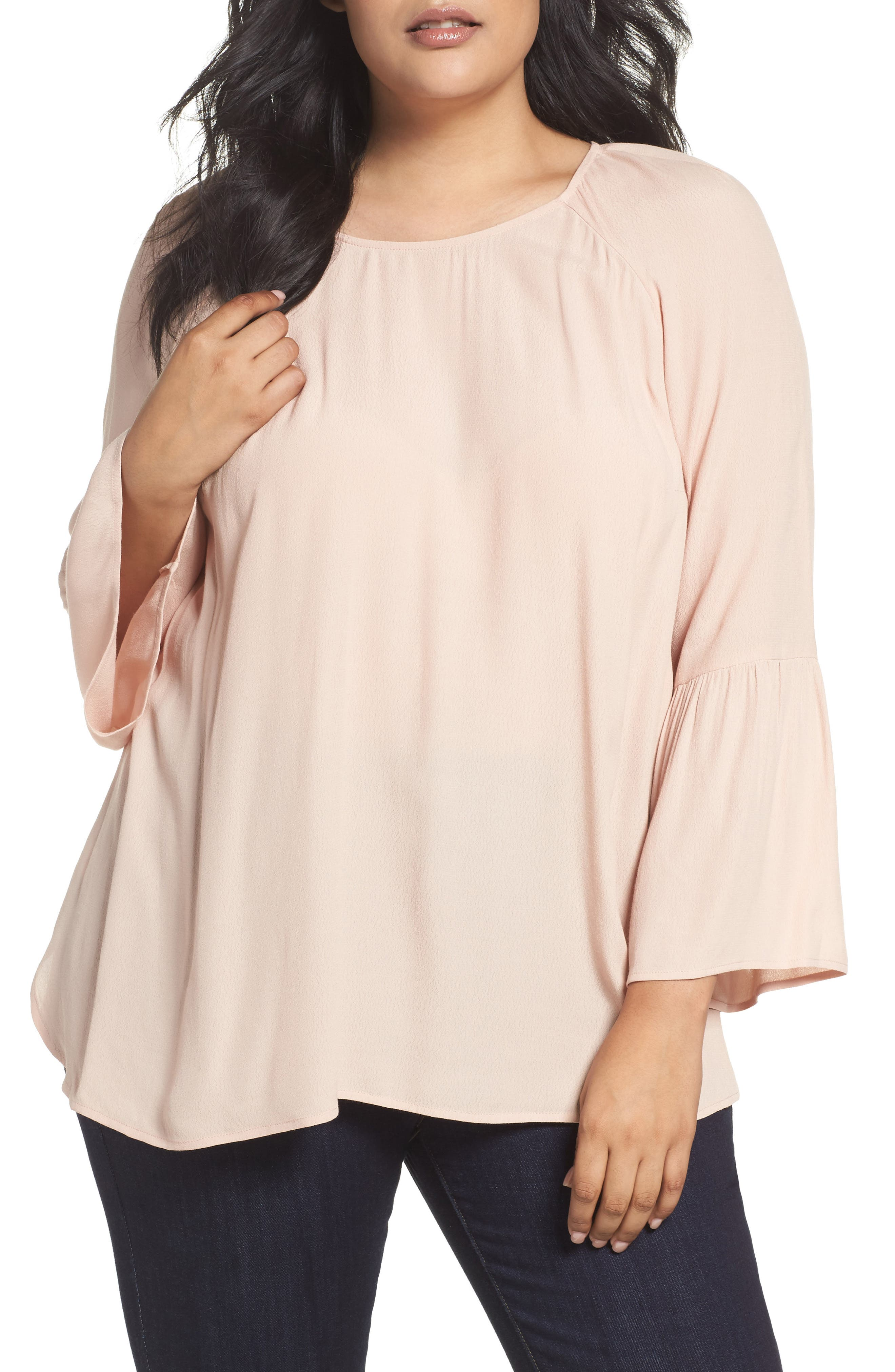 Daniel Rainn Bell Sleeve Blouse (Plus Size)