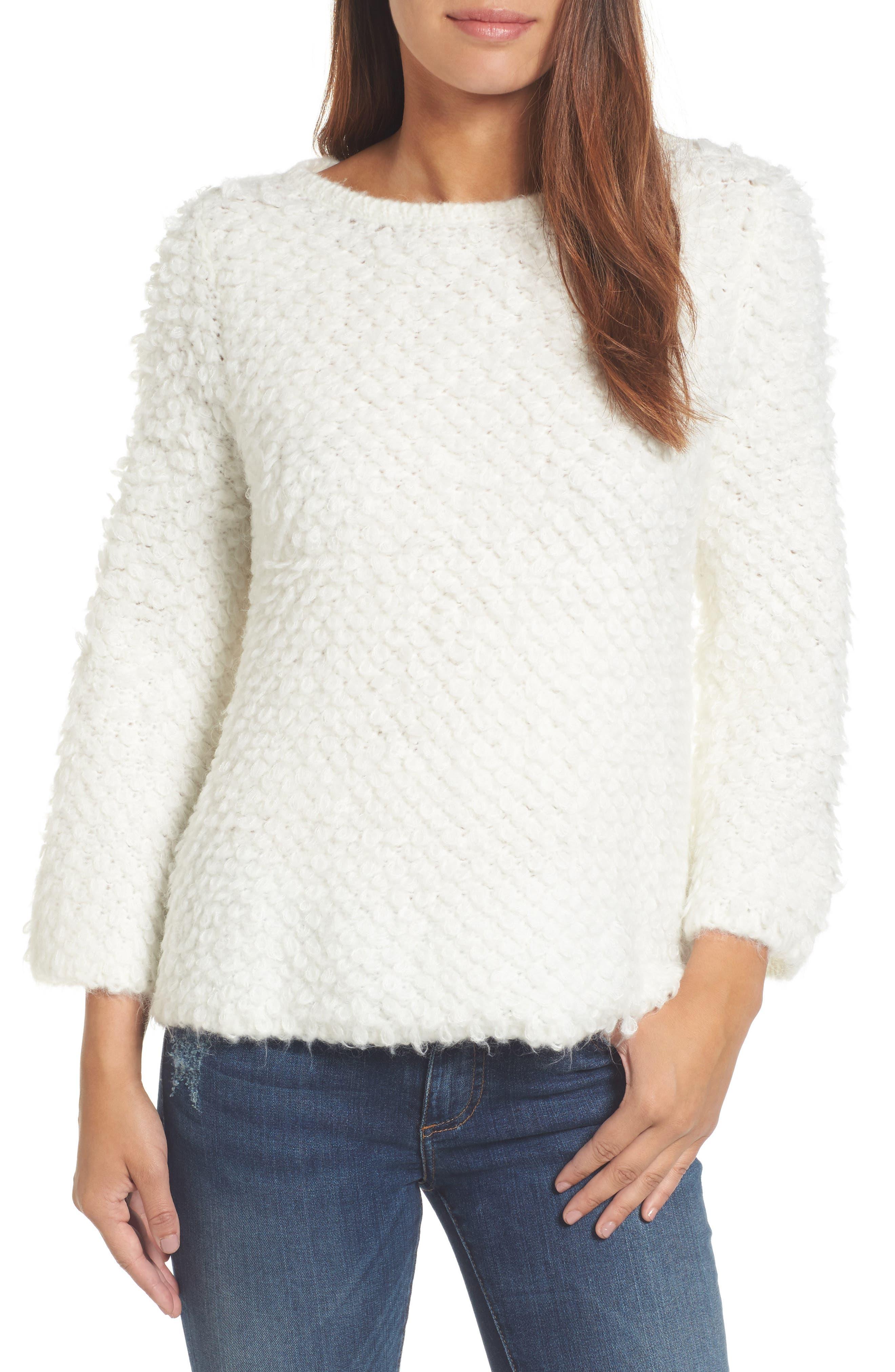 Alternate Image 1 Selected - Caslon® Loop Stitch Crewneck Sweater
