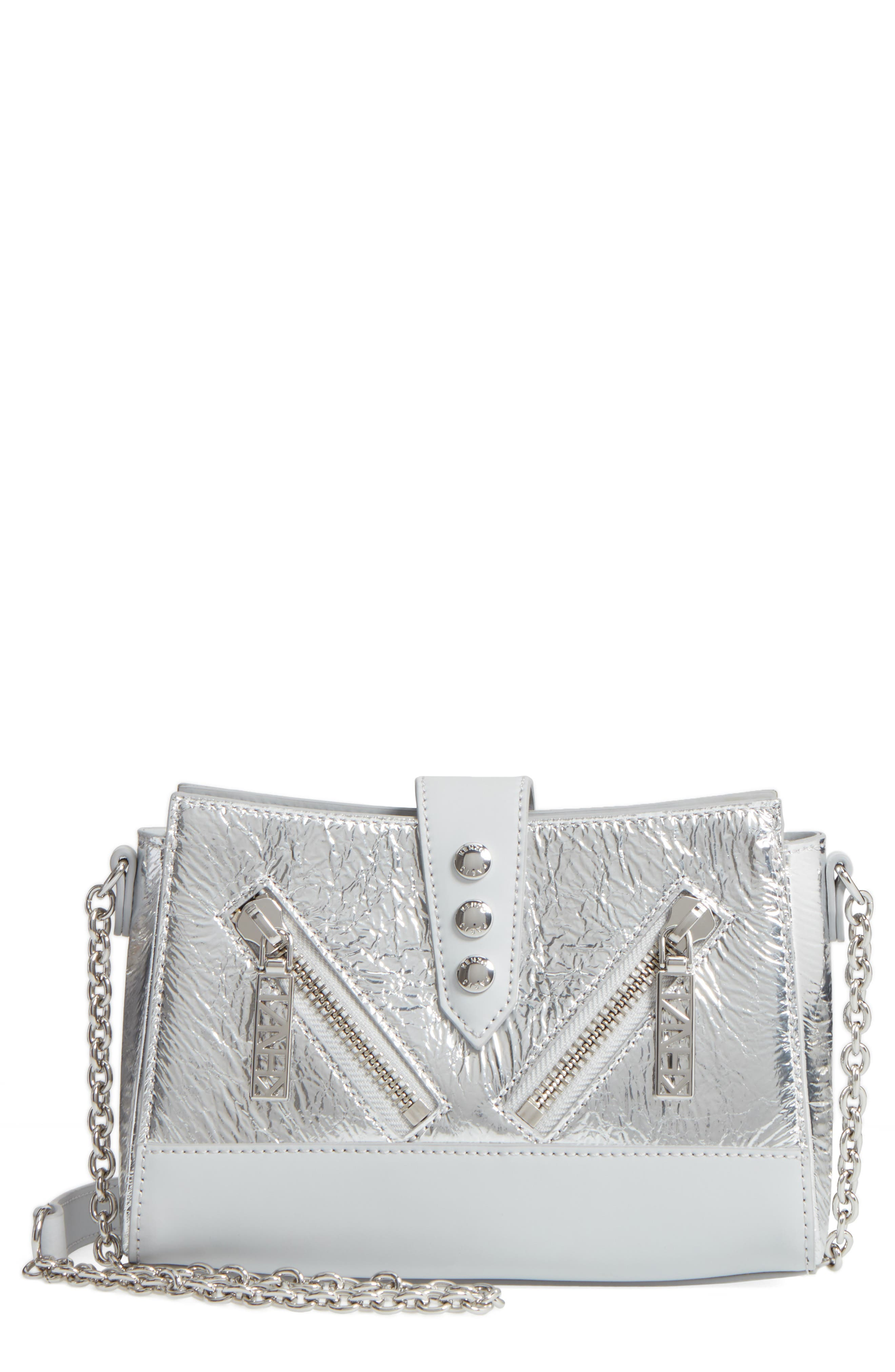 KENZO Mini Kalifornia Metallic Leather Crossbody Bag