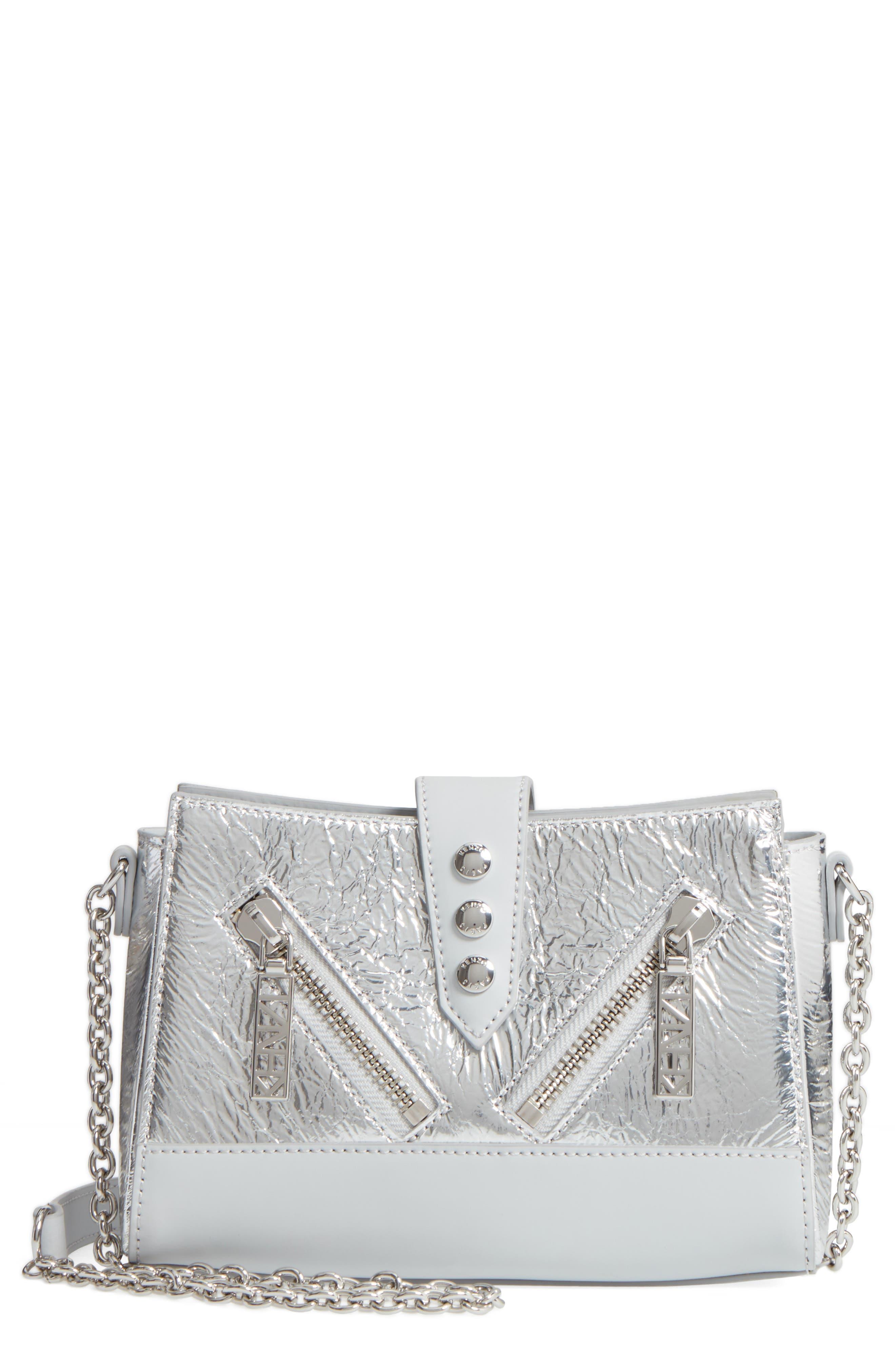 KENZO Mini Kalifornia Metallic Leather Crossbody Bag