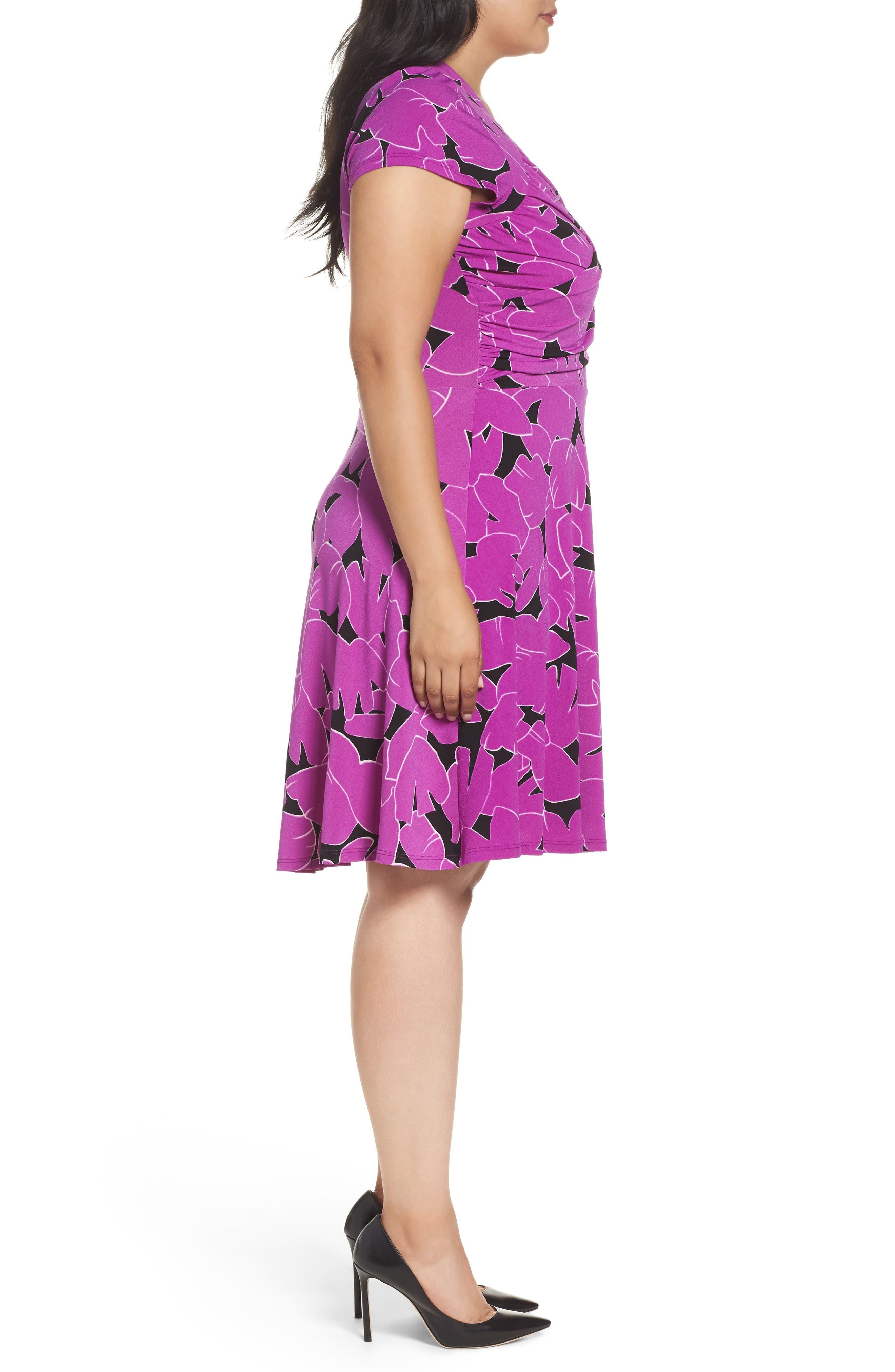 Alternate Image 3  - Leota Faux Wrap Jersey Dress (Plus Size)