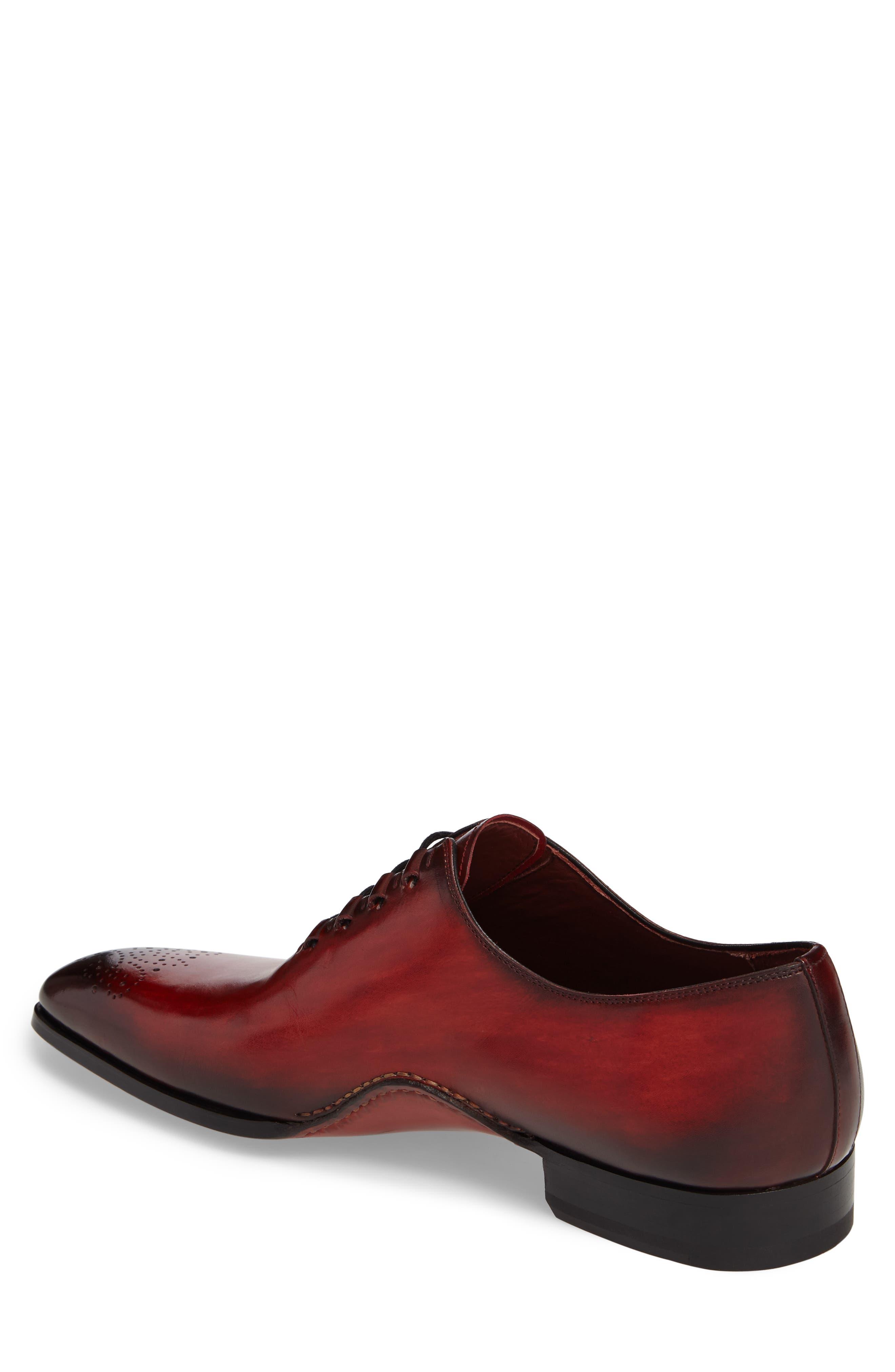 Josue Wholecut Oxford,                             Alternate thumbnail 2, color,                             Red Leather