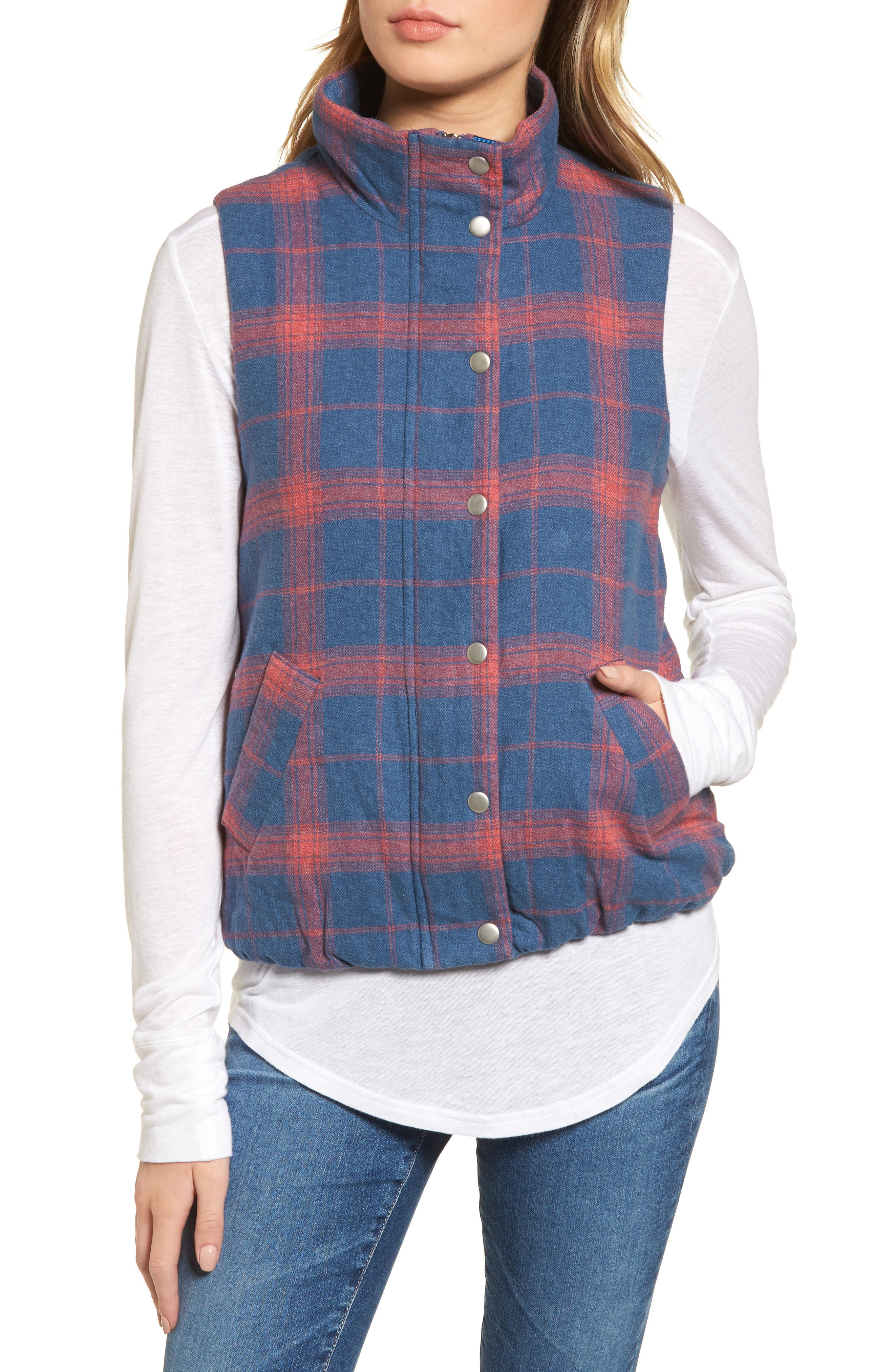 Alternate Image 4  - Dylan Plaid Flannel Vest
