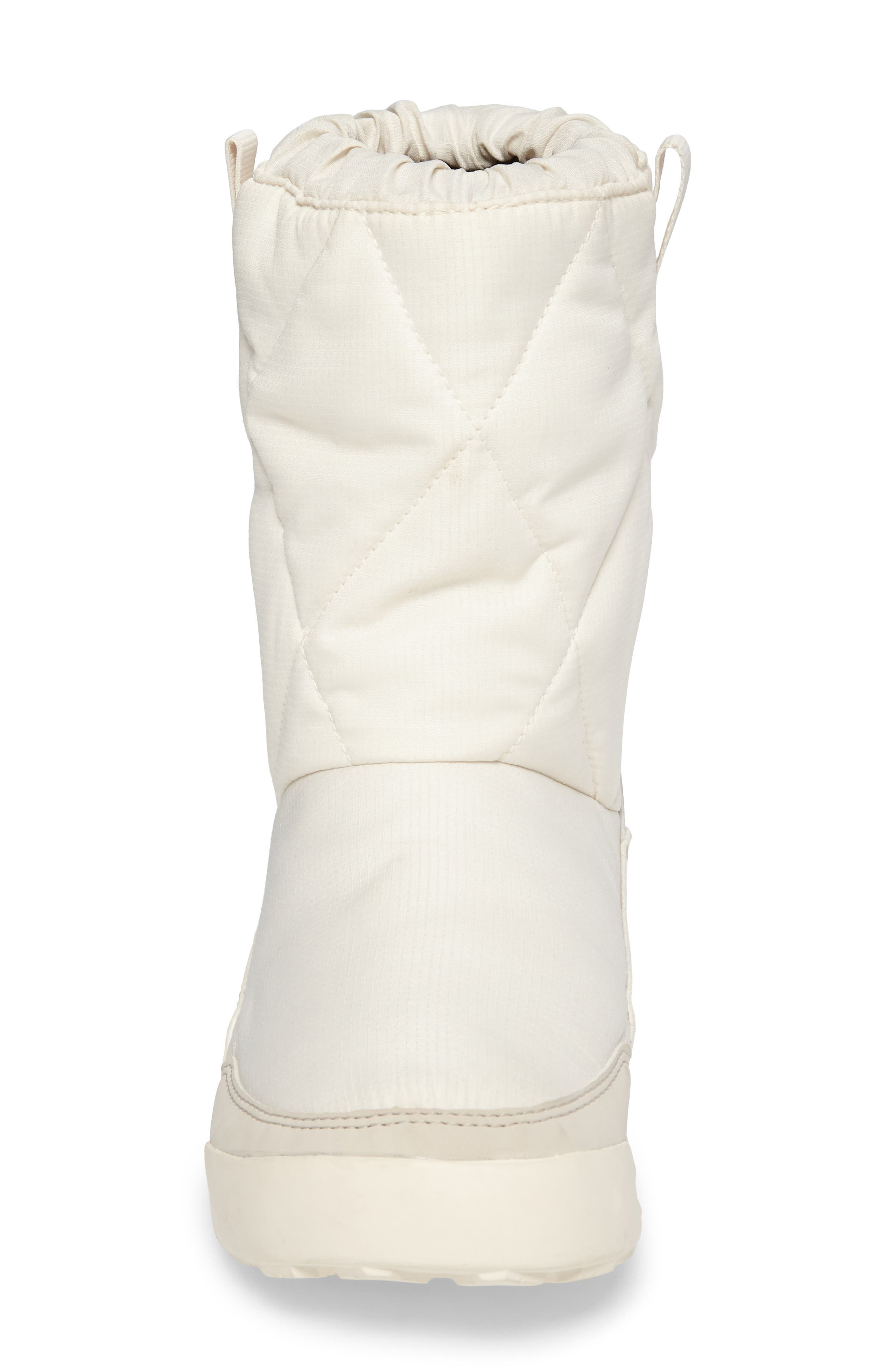 CW Snowpitch Insulated Waterproof Boot,                             Alternate thumbnail 4, color,                             Chalk White/ Clear Brown/ Aqua