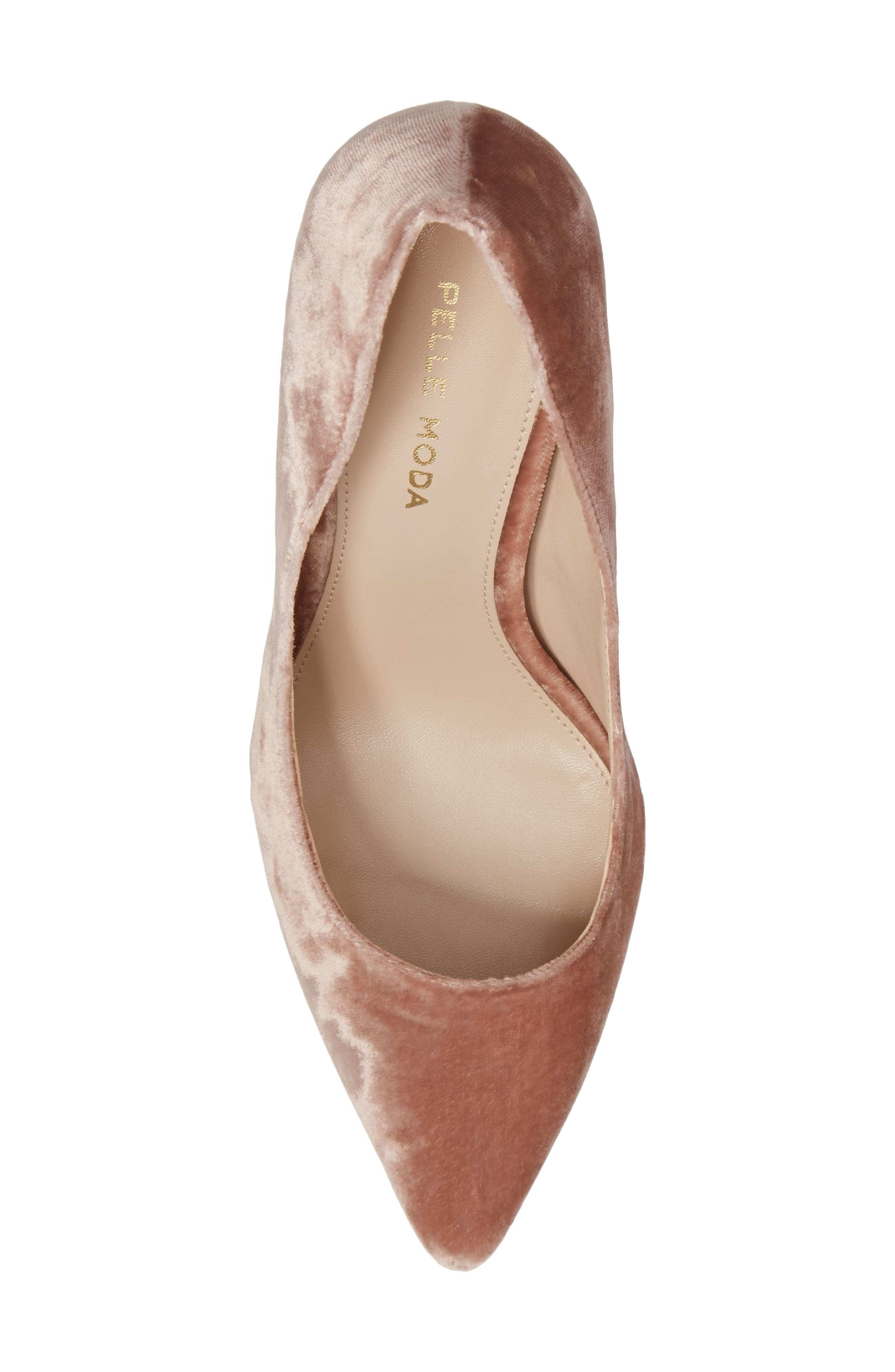 Vally2 Pointy Toe Pump,                             Alternate thumbnail 5, color,                             Blush Fabric