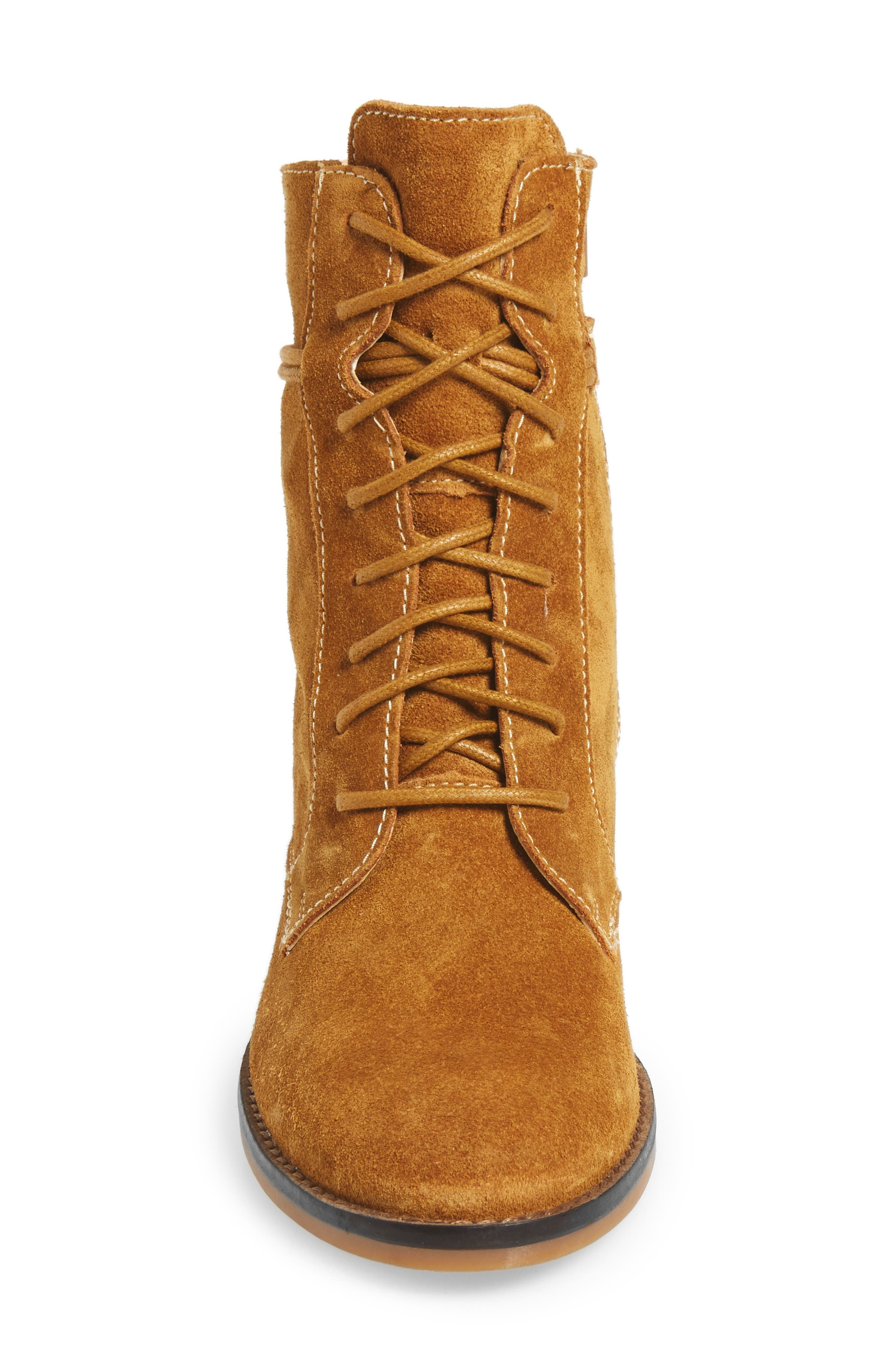 Bab Felise Boot,                             Alternate thumbnail 4, color,                             Camel Suede