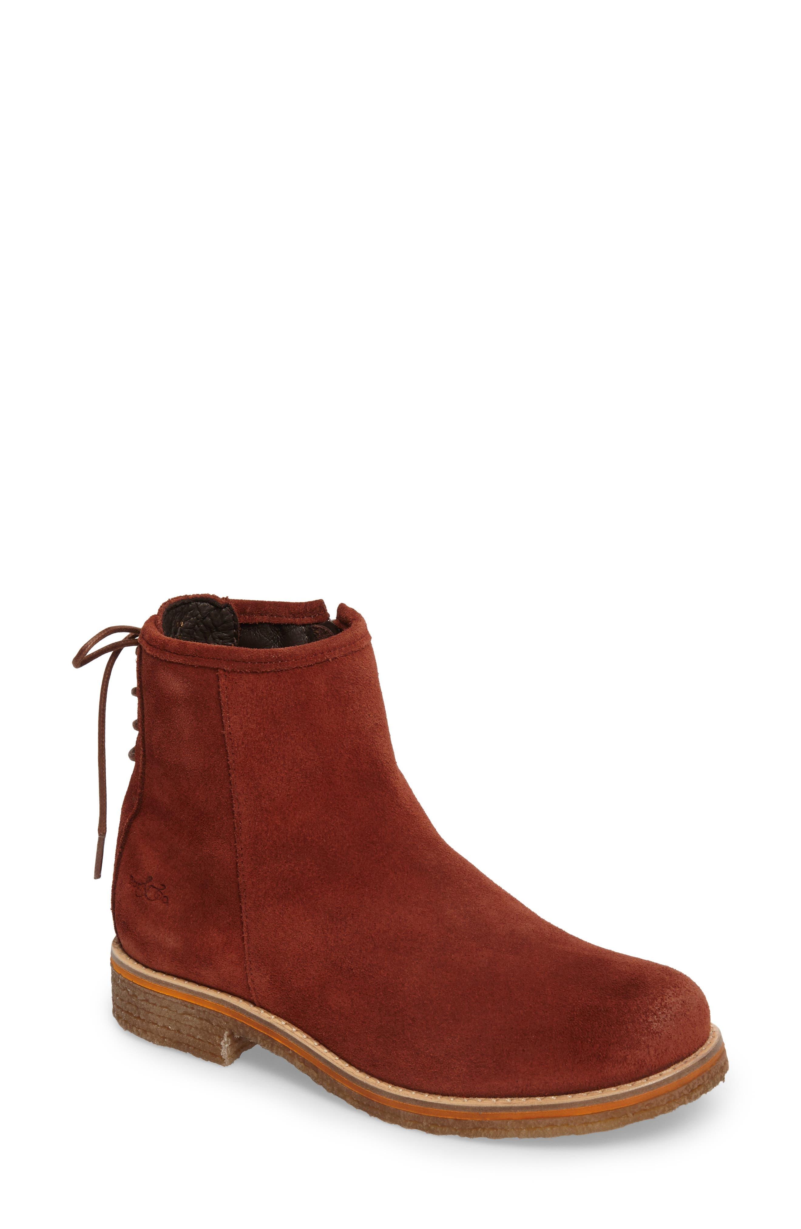 Bay Waterproof Boot,                         Main,                         color, Brick Suede