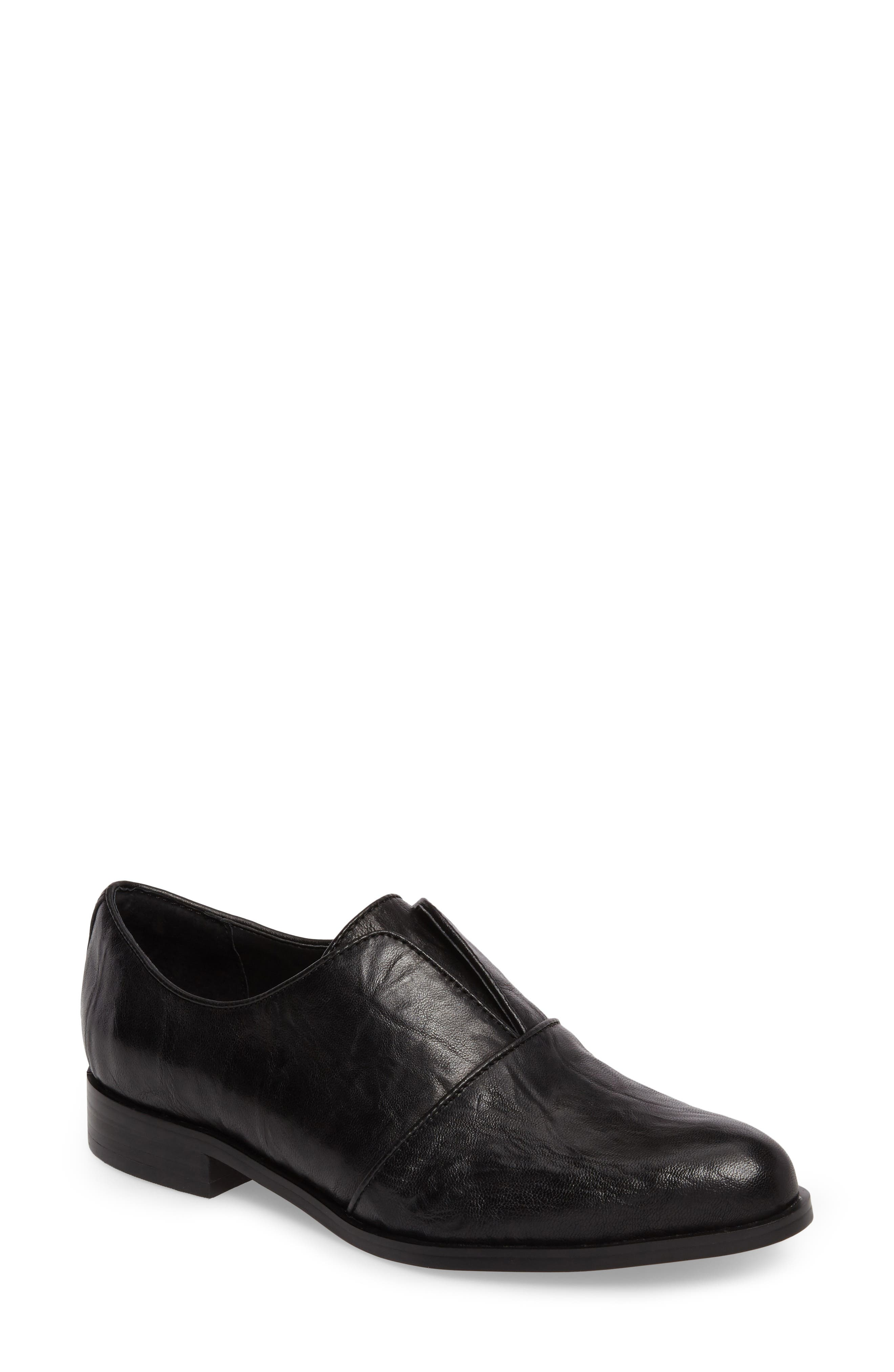Isola Maria Slip-On Oxford,                         Main,                         color, Black Leather