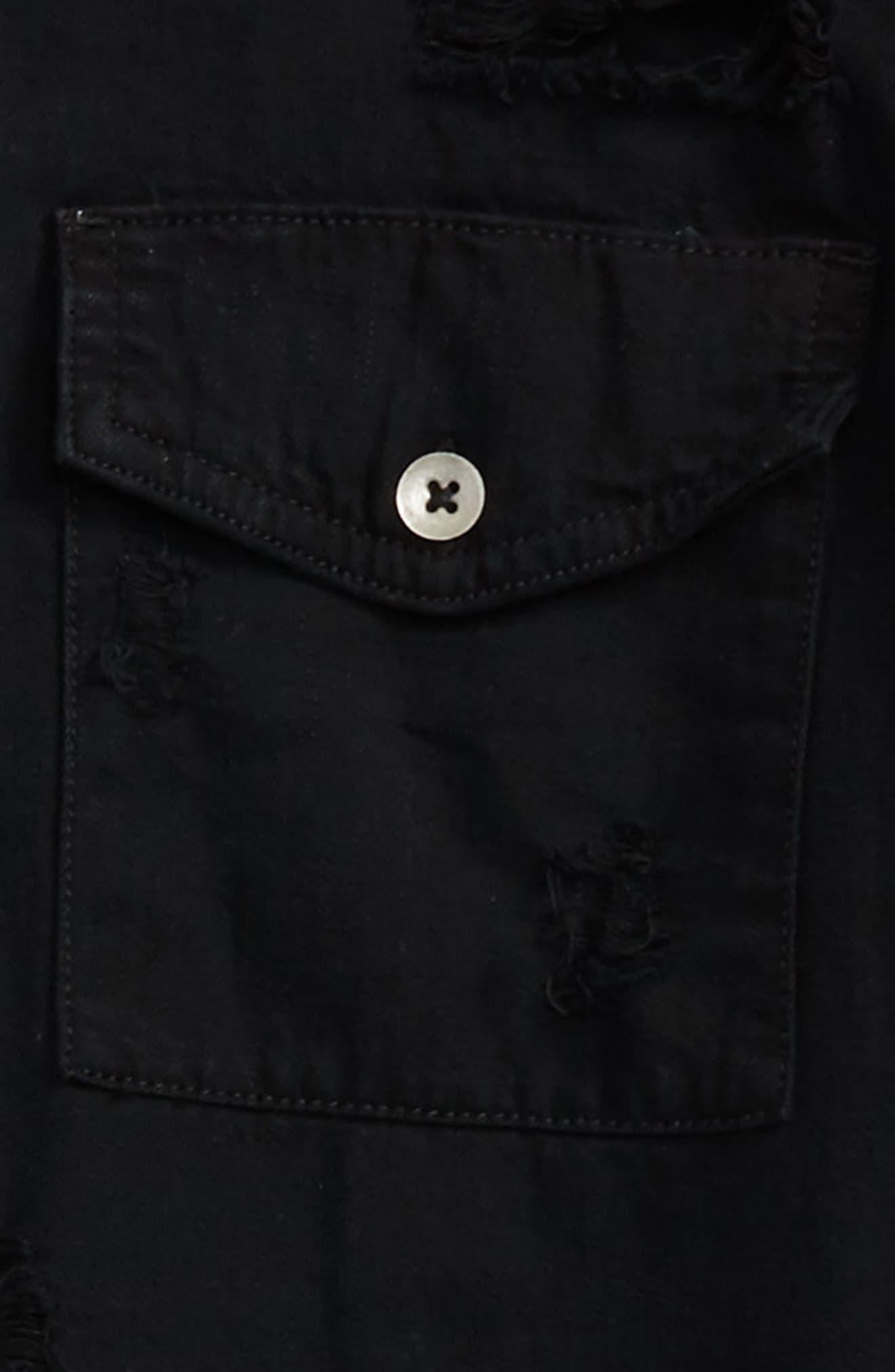 Alternate Image 2  - Treasure & Bond Distressed Woven Shirt (Big Boys)