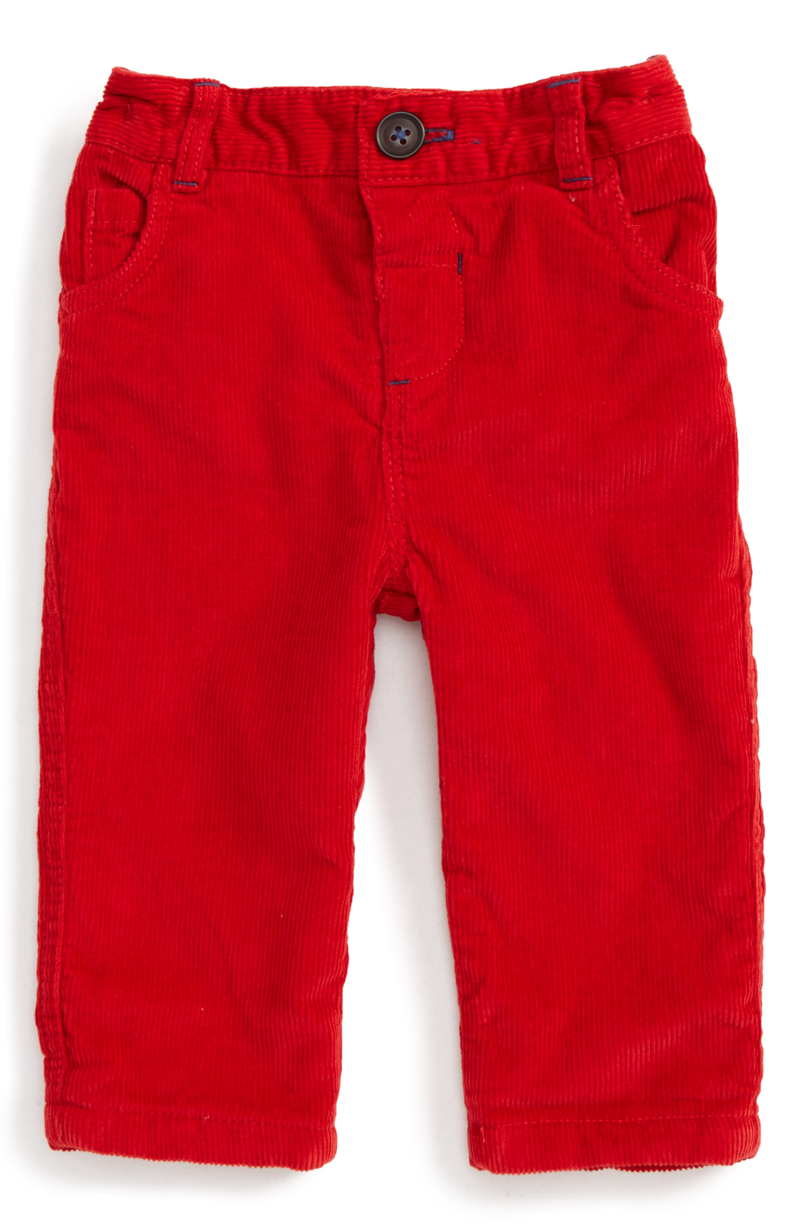 Alternate Image 1 Selected - Mini Boden Lined Corduroy Pants (Baby Boys & Toddler Boys)