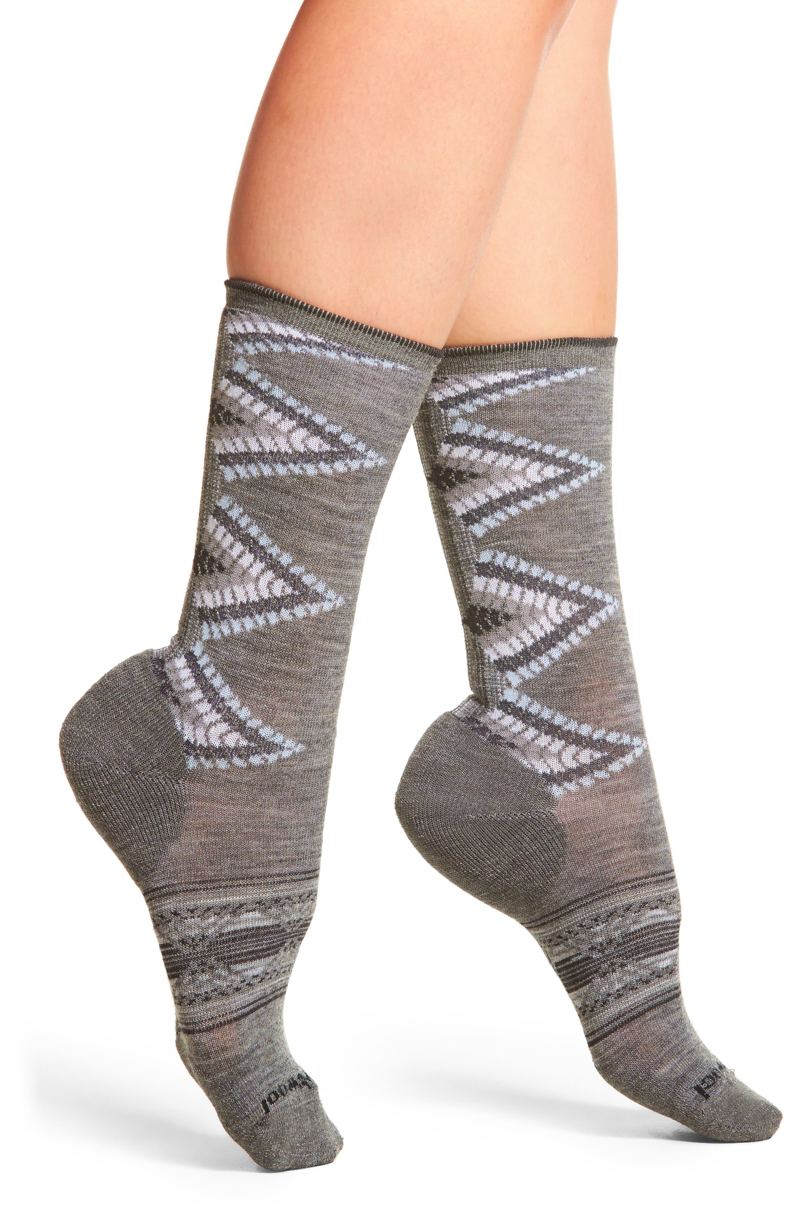 Tiva Crew Socks,                         Main,                         color, Medium Gray Heather