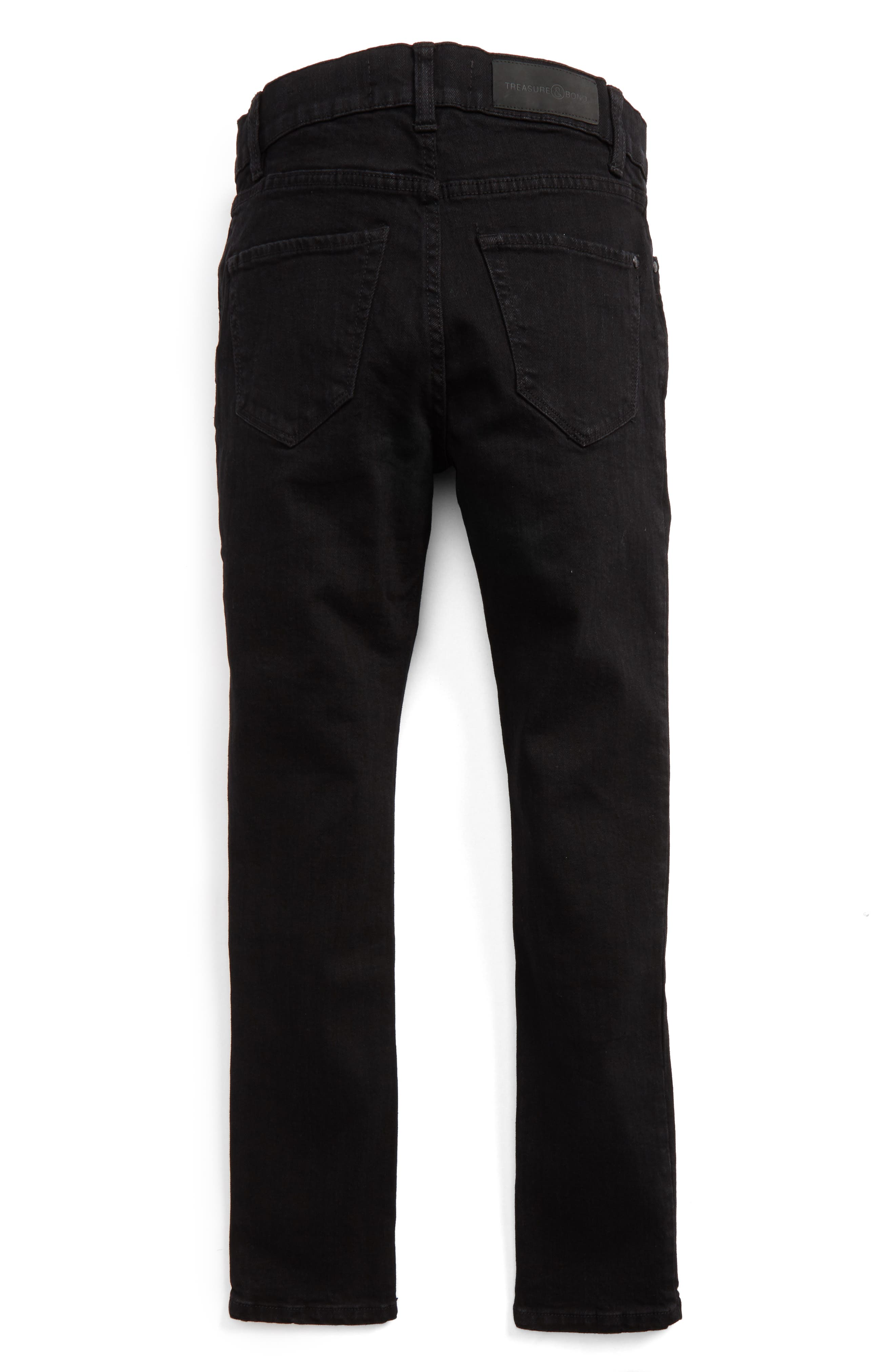 Slouch Skinny Jeans,                             Alternate thumbnail 2, color,                             Easy Black Wash