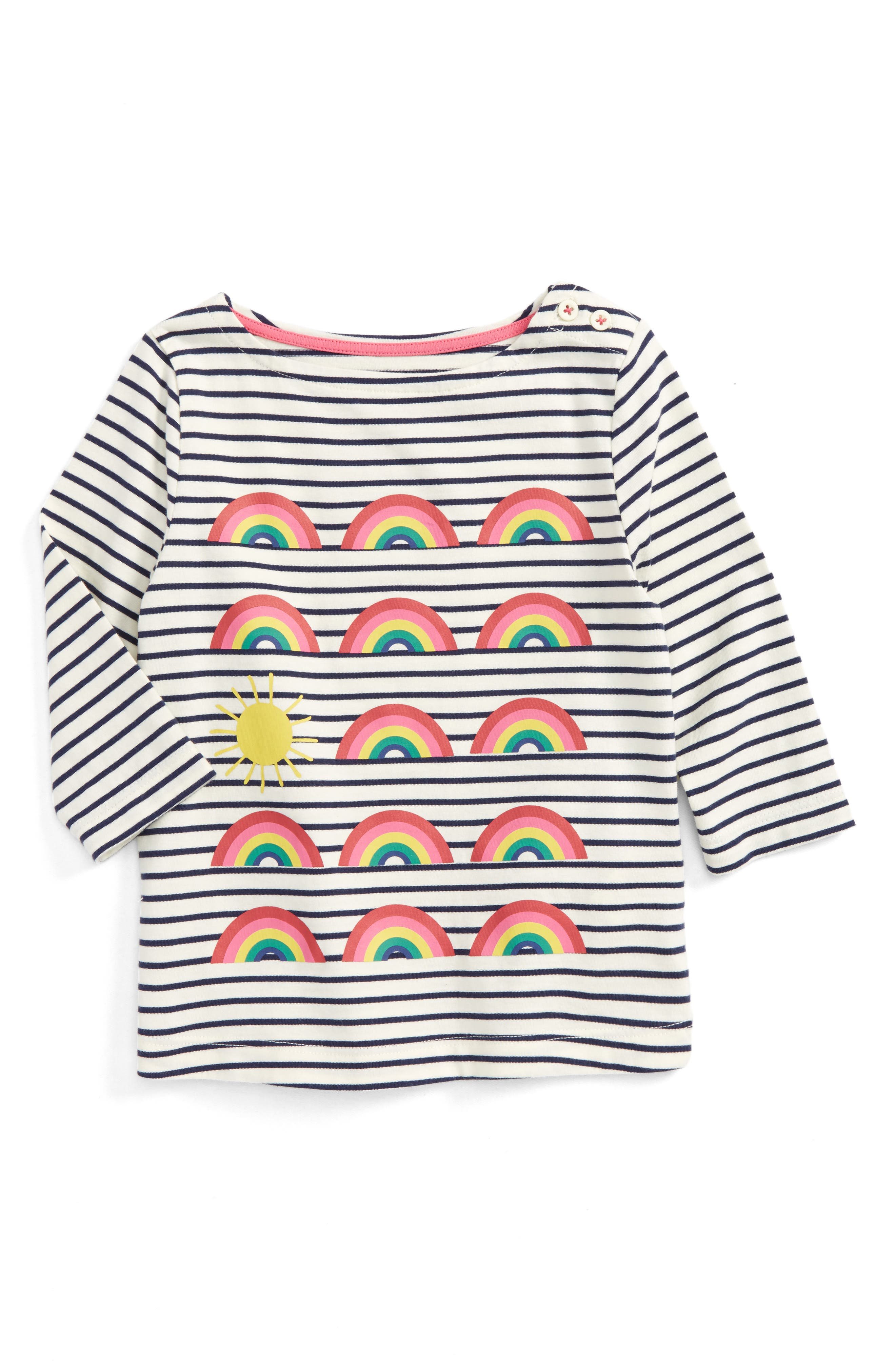Odd One Out Graphic Tee,                         Main,                         color, School Navy/ Rainbows