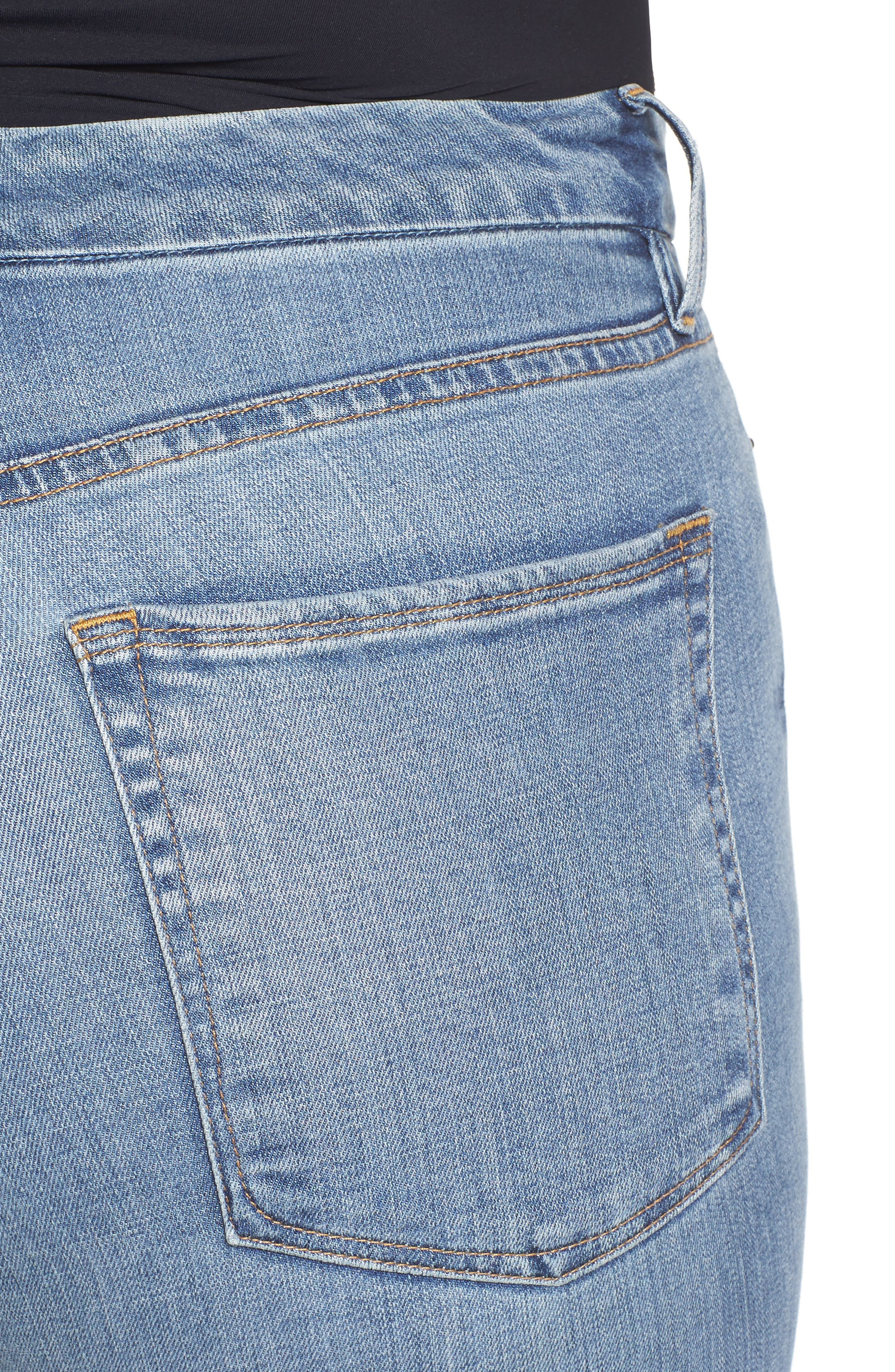 Alternate Image 12  - Good American Good Straight High Rise Jeans (Blue 087) (Extended Sizes)