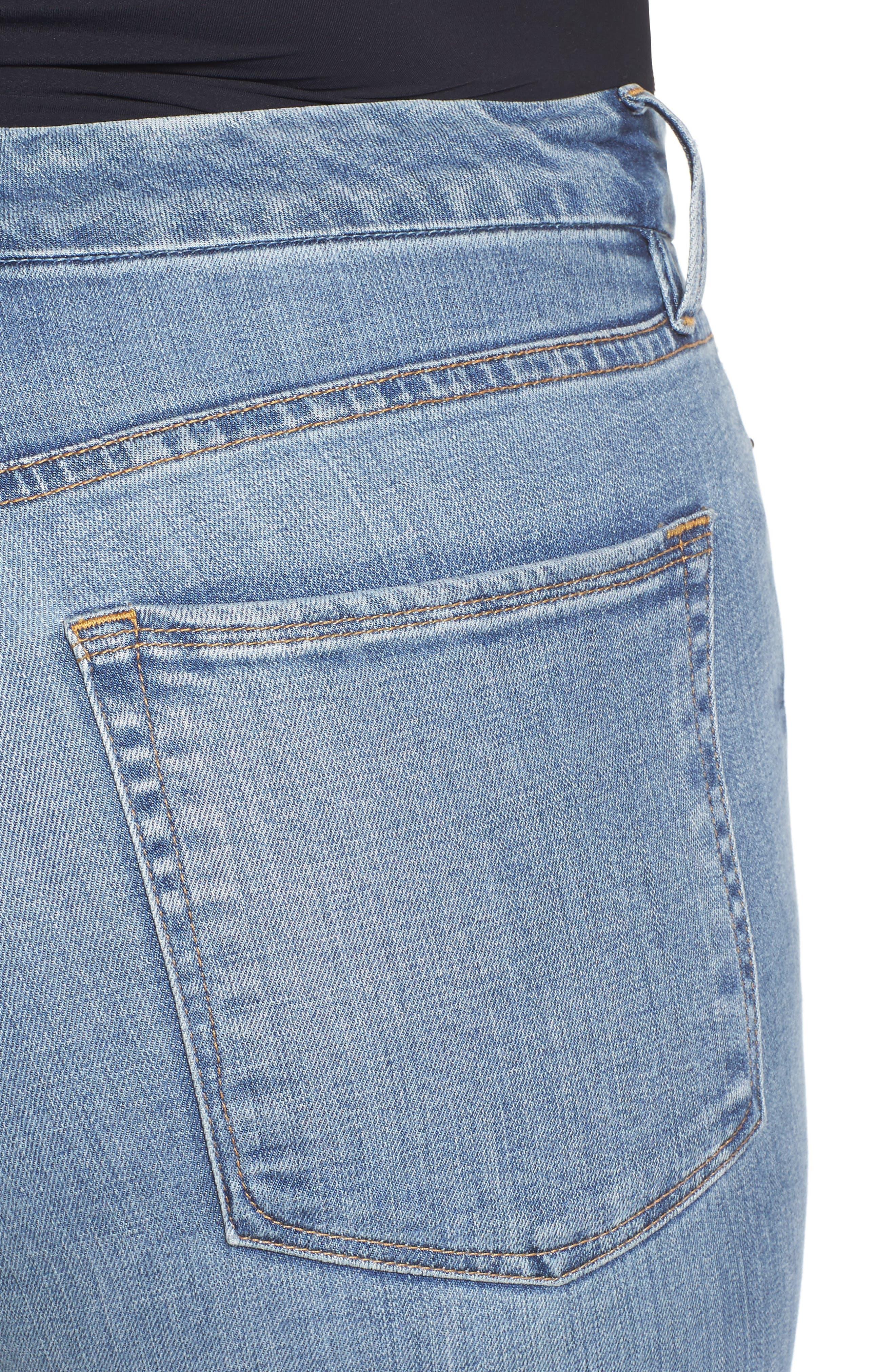 Alternate Image 12  - Good American Good Straight High Rise Jeans (Blue 087) (Regular & Plus Size)