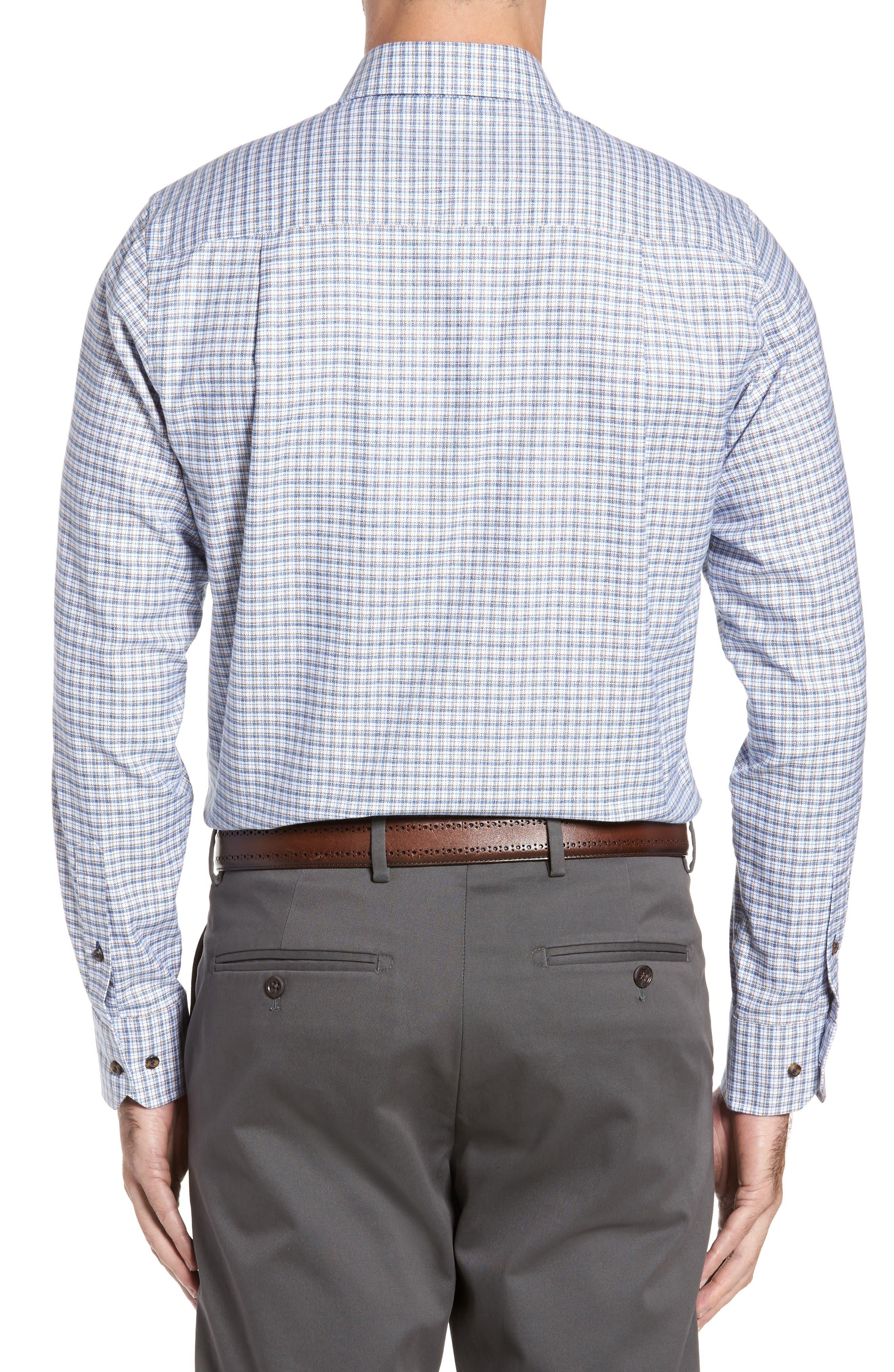 Regular Fit Plaid Sport Shirt,                             Alternate thumbnail 2, color,                             Blue