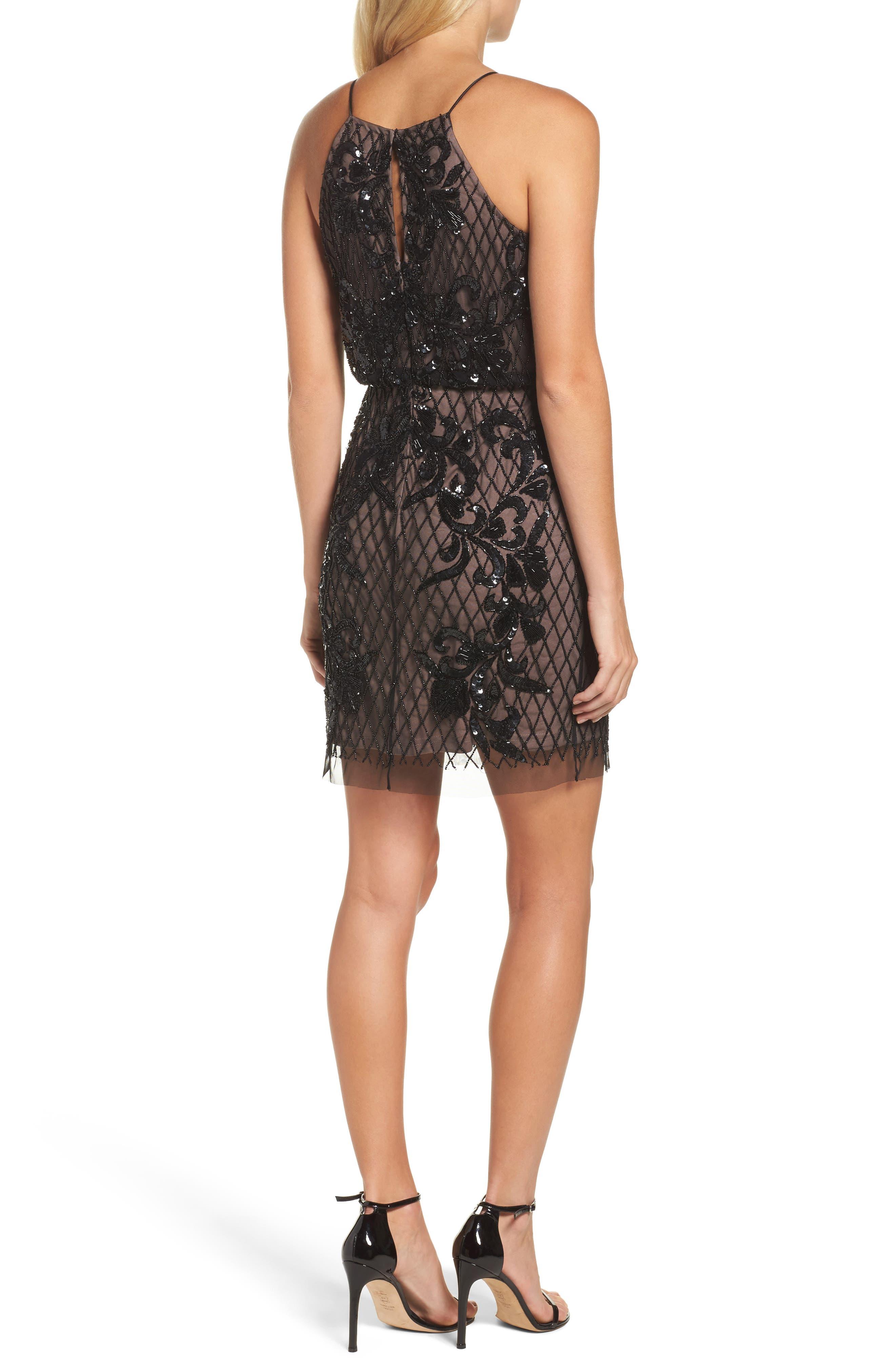 Alternate Image 2  - Adrianna Papell Embellished Blouson Minidress