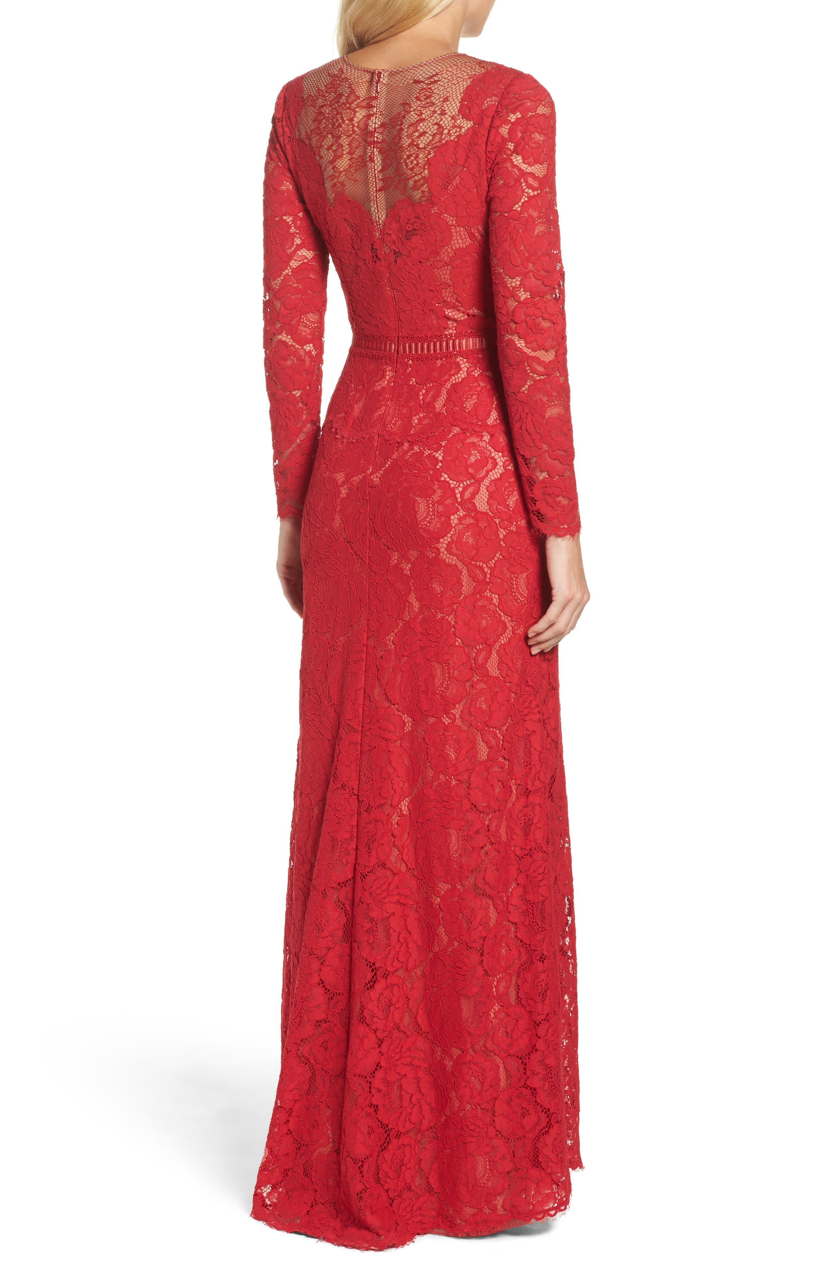 Alternate Image 2  - Tadashi Shoji Corded Lace Gown