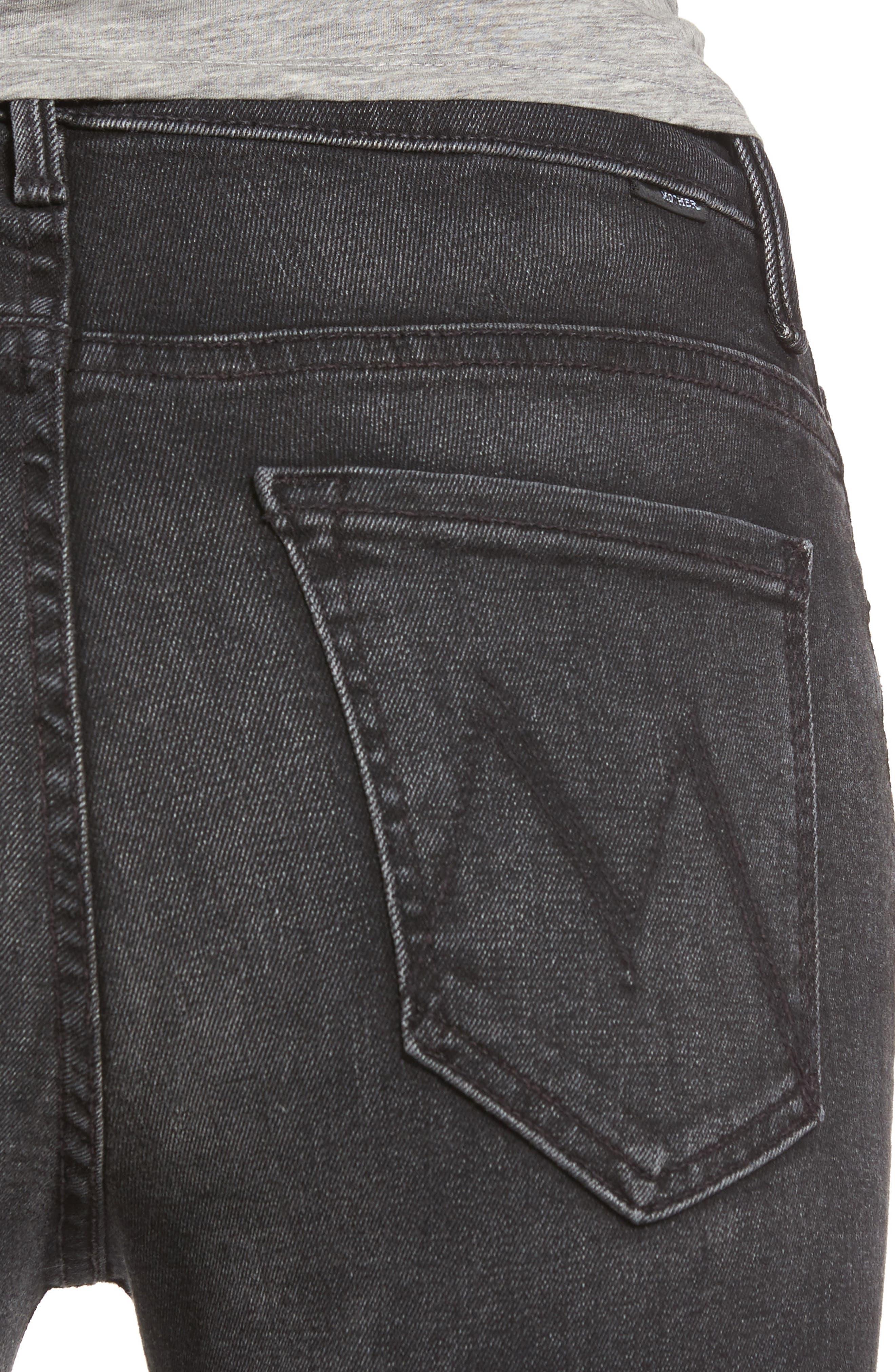 Alternate Image 4  - MOTHER The Insider High Waist Step Hem Crop Bootcut Jeans (Night Hawk)