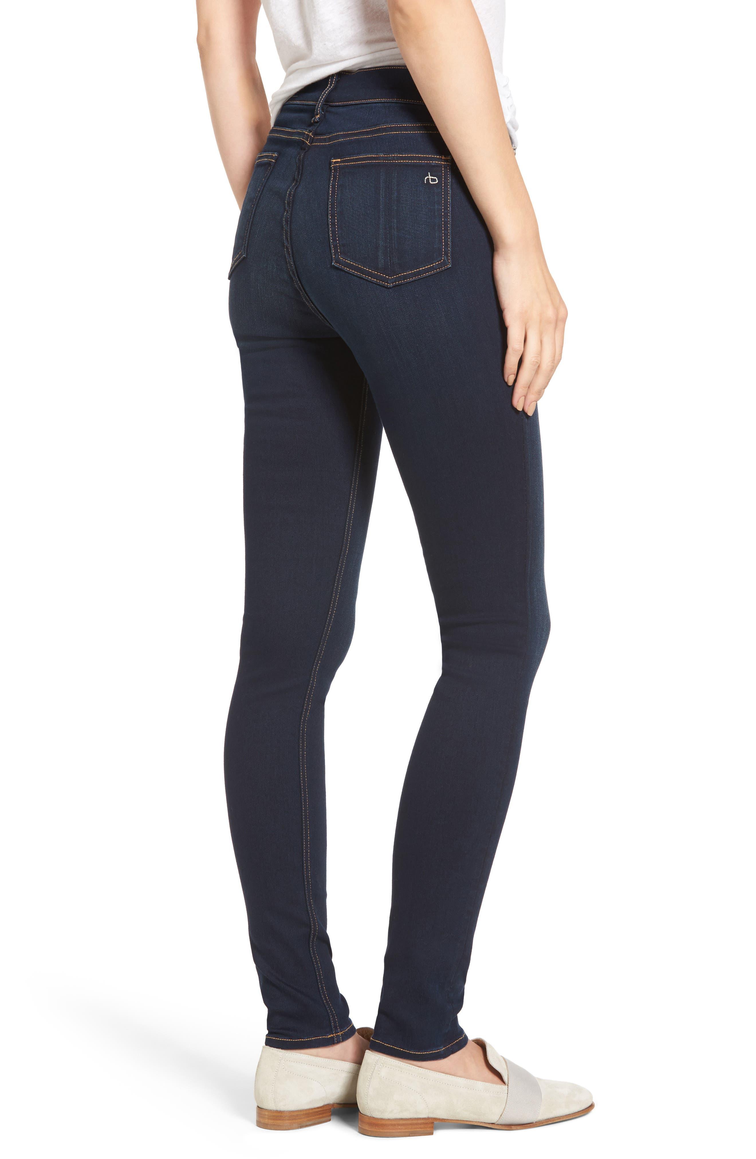 Alternate Image 2  - rag & bone DENIM High Waist Skinny Jeans (Bedford)