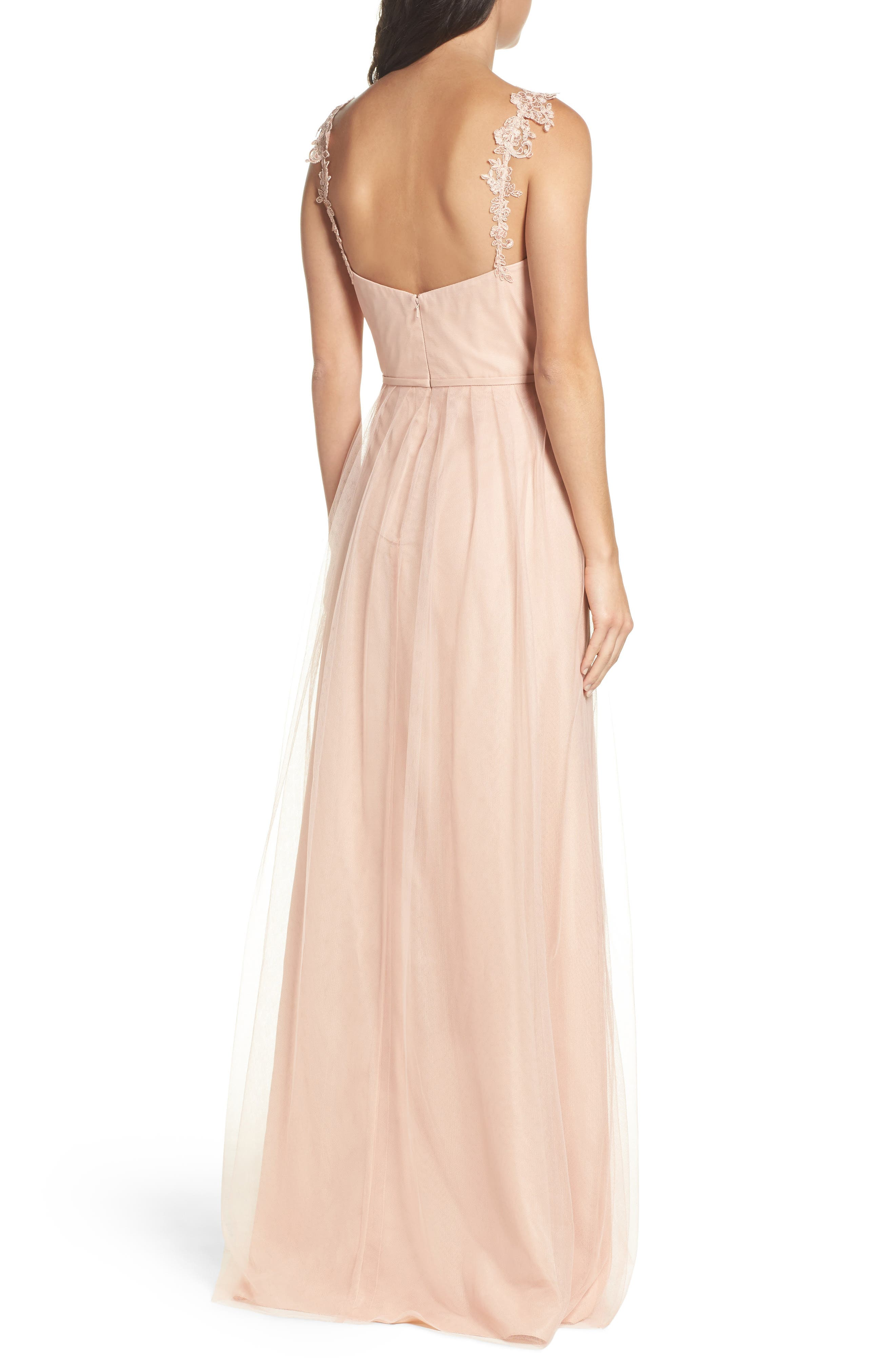Alternate Image 2  - Monique Lhuillier Bridesmaids Violetta Tulle Gown