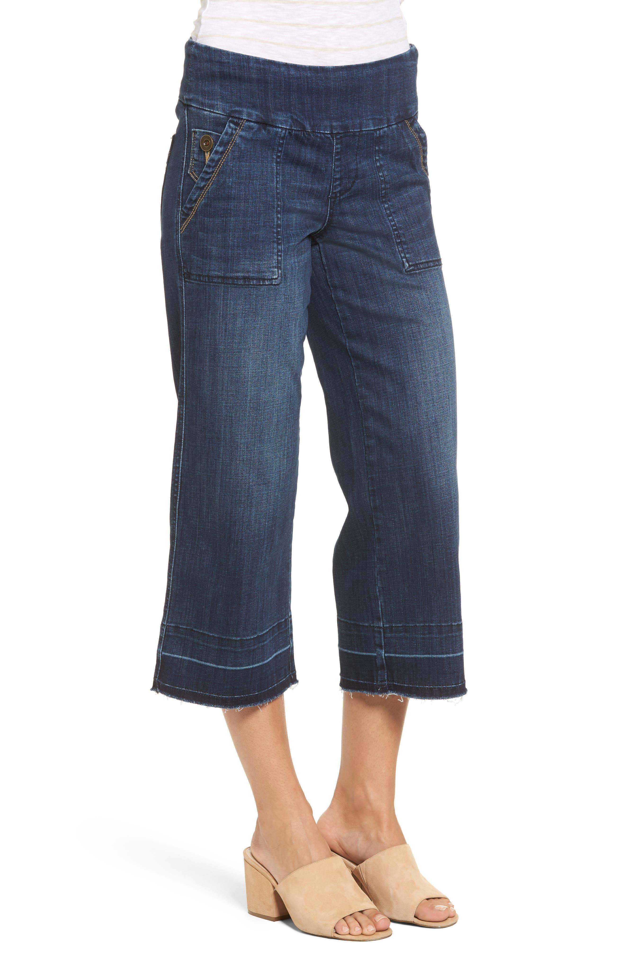 Alternate Image 3  - Jag Jeans Snyder Pull-On Wide Leg Jeans (Thorne Blue)