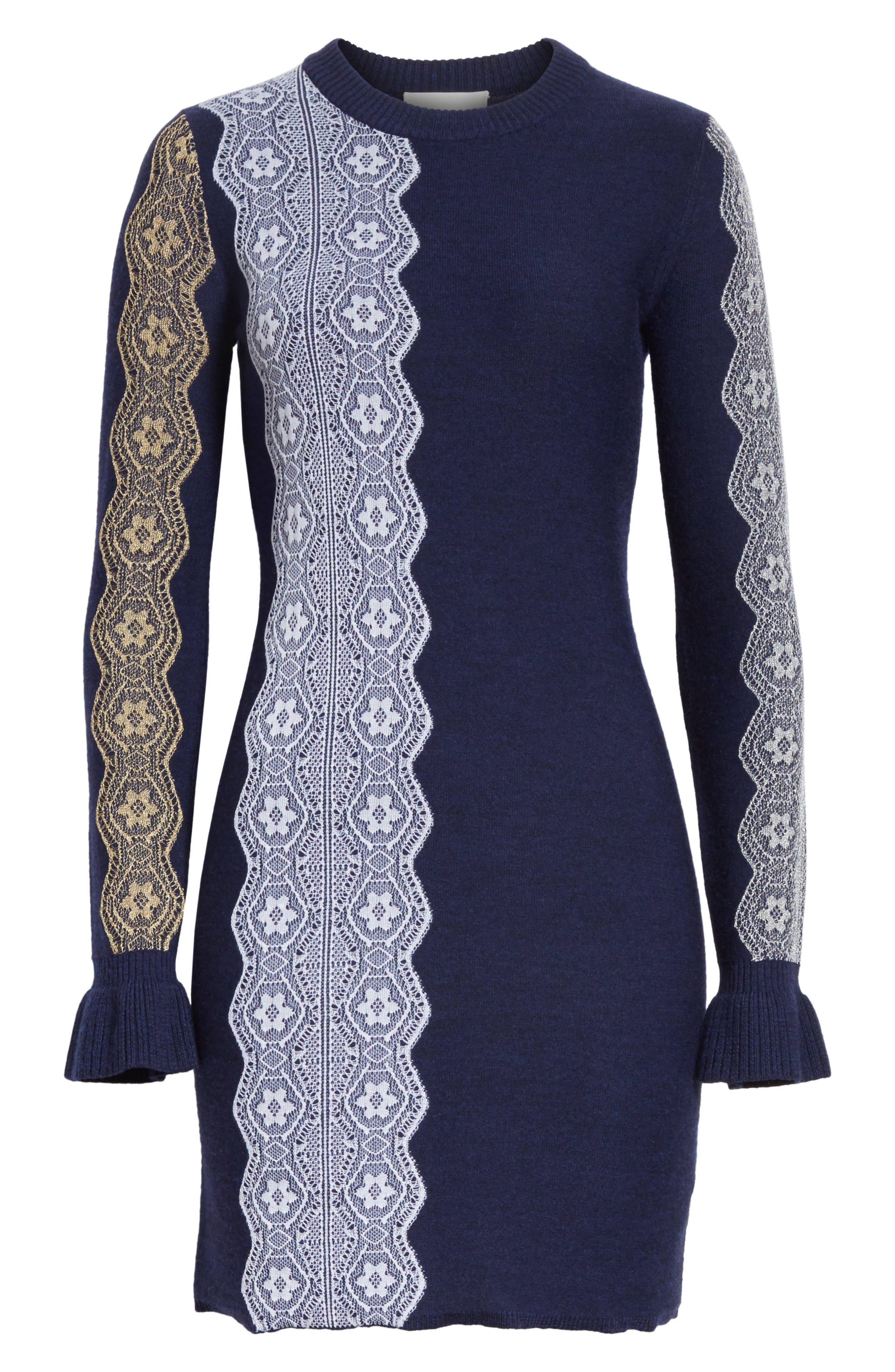 Alternate Image 6  - 3.1 Phillip Lim Intarsia Lace Wool Blend Dress