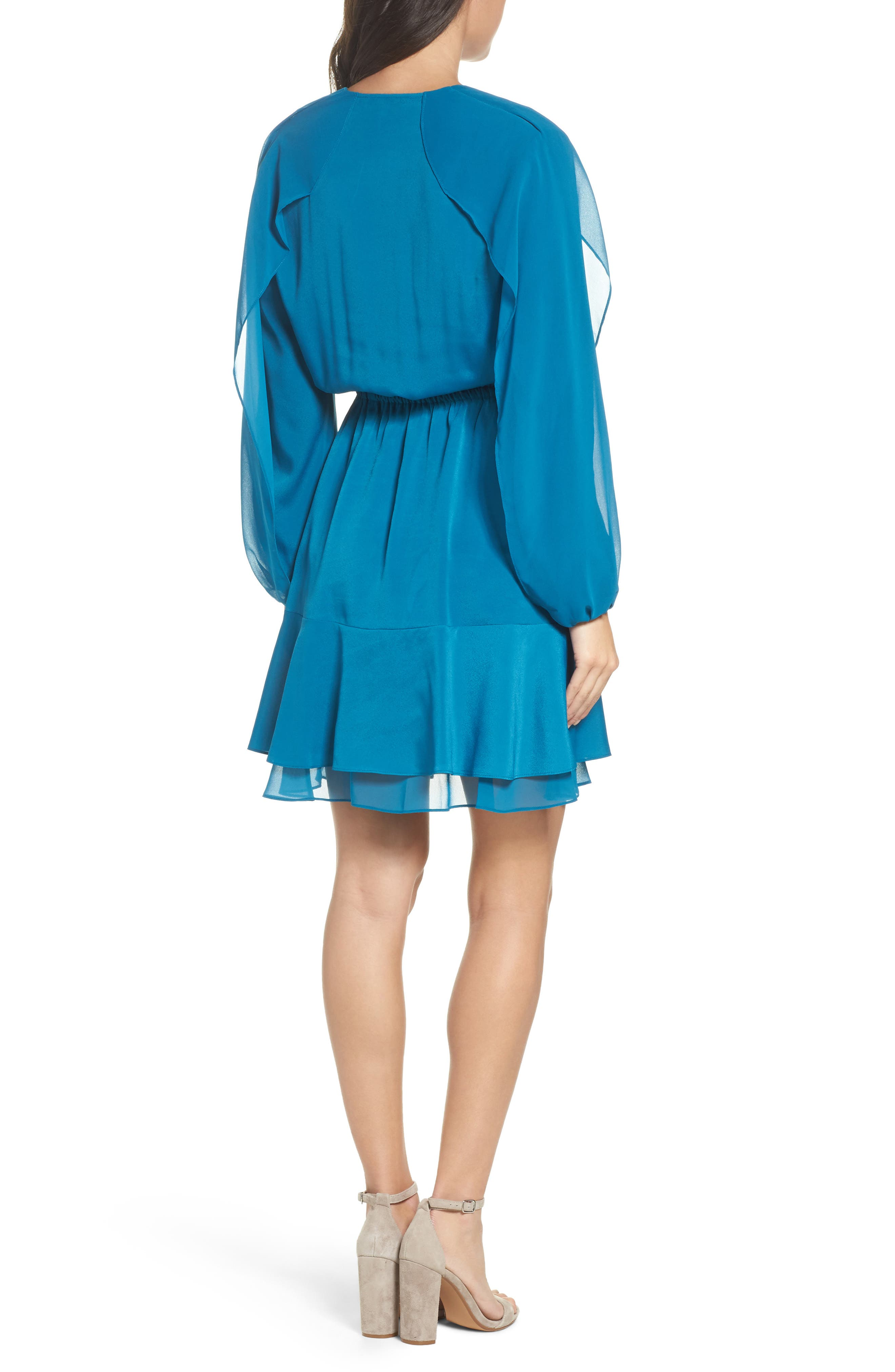 Alternate Image 2  - Kobi Halperin Keely Ruffle Blouson Dress (Nordstrom Exclusive)