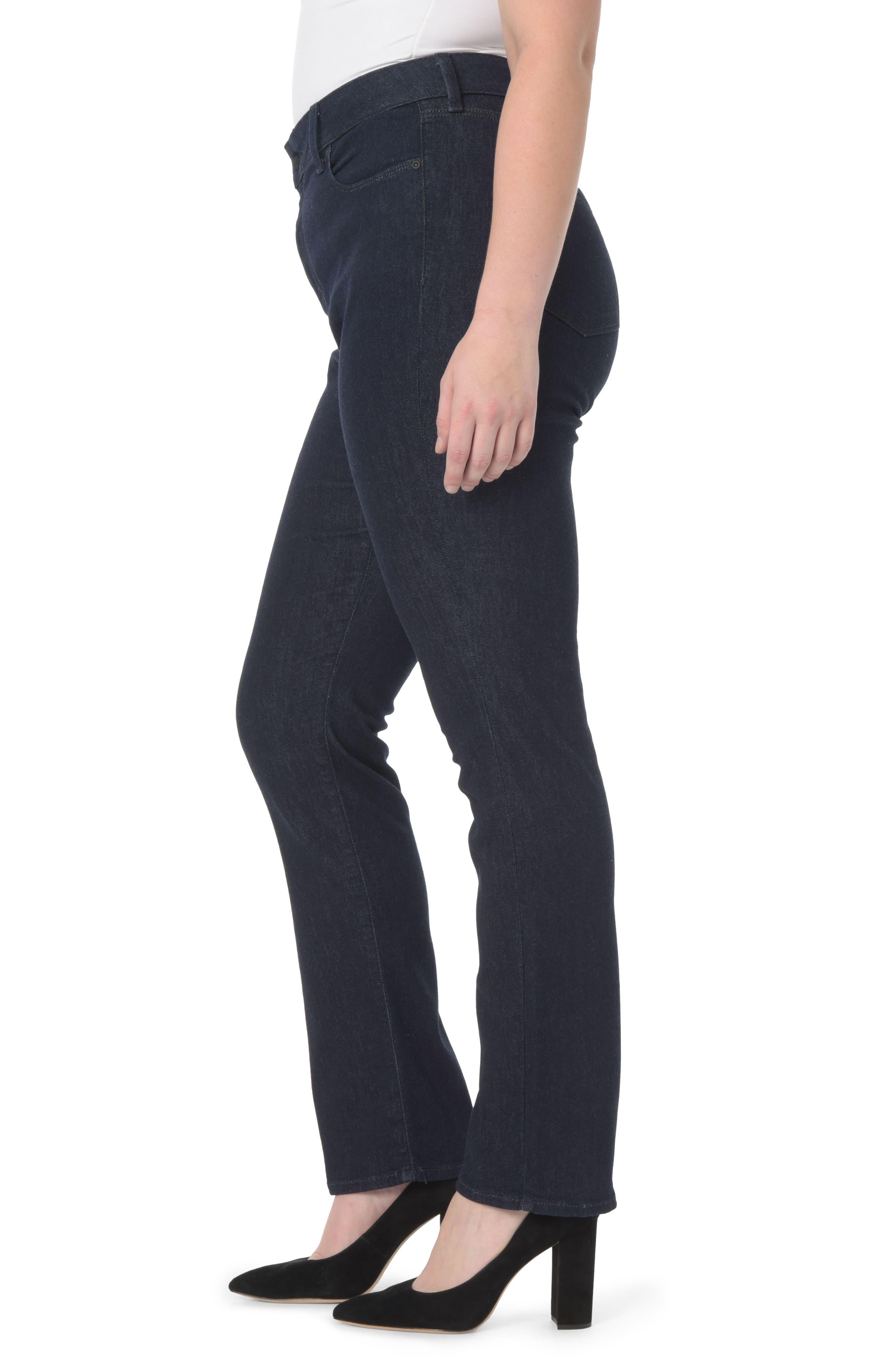 Alternate Image 3  - NYDJ Marilyn Straight Leg Jeans (Plus Size)