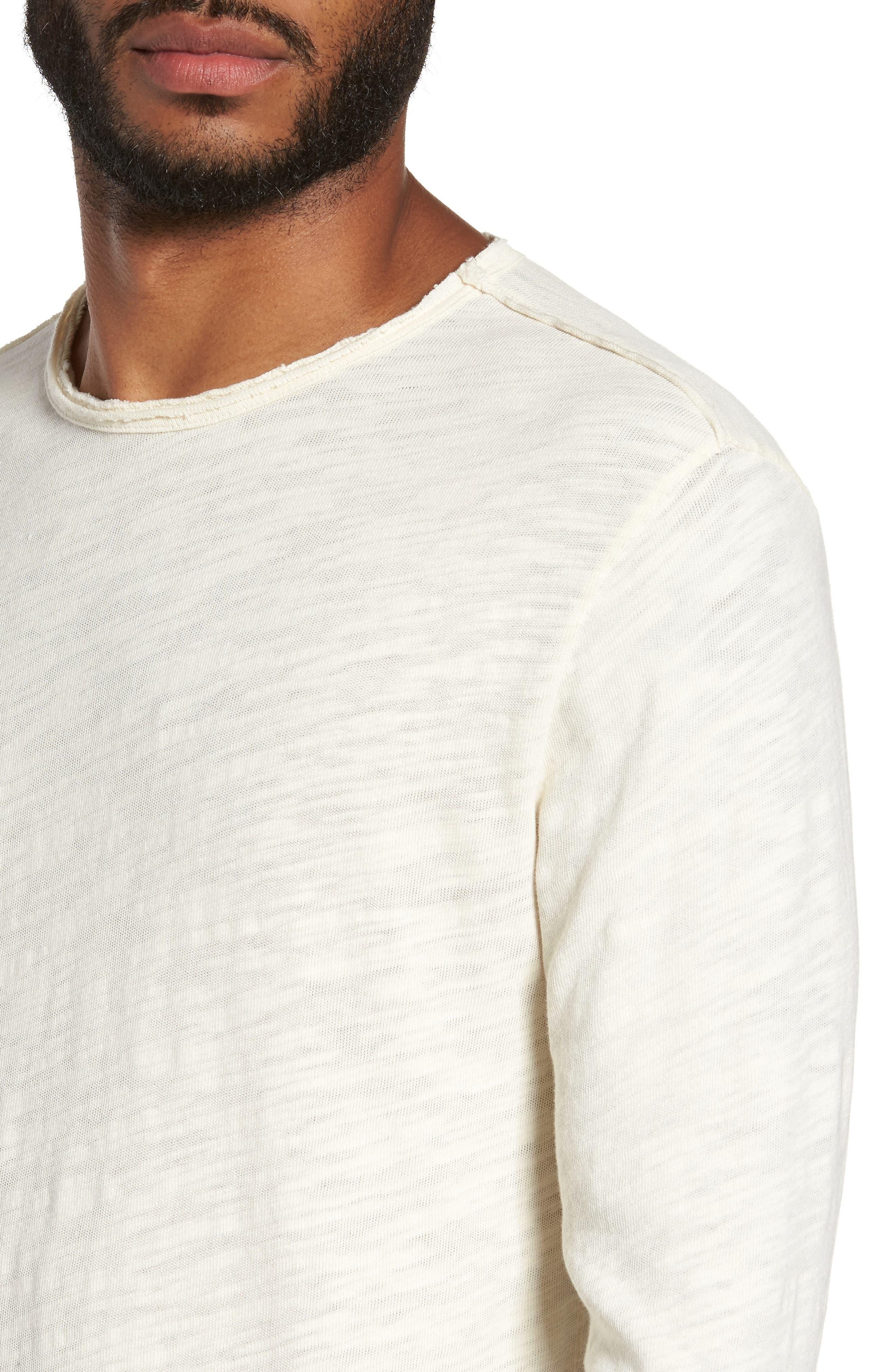 Slub Long Sleeve T-Shirt,                             Alternate thumbnail 4, color,                             Ecru