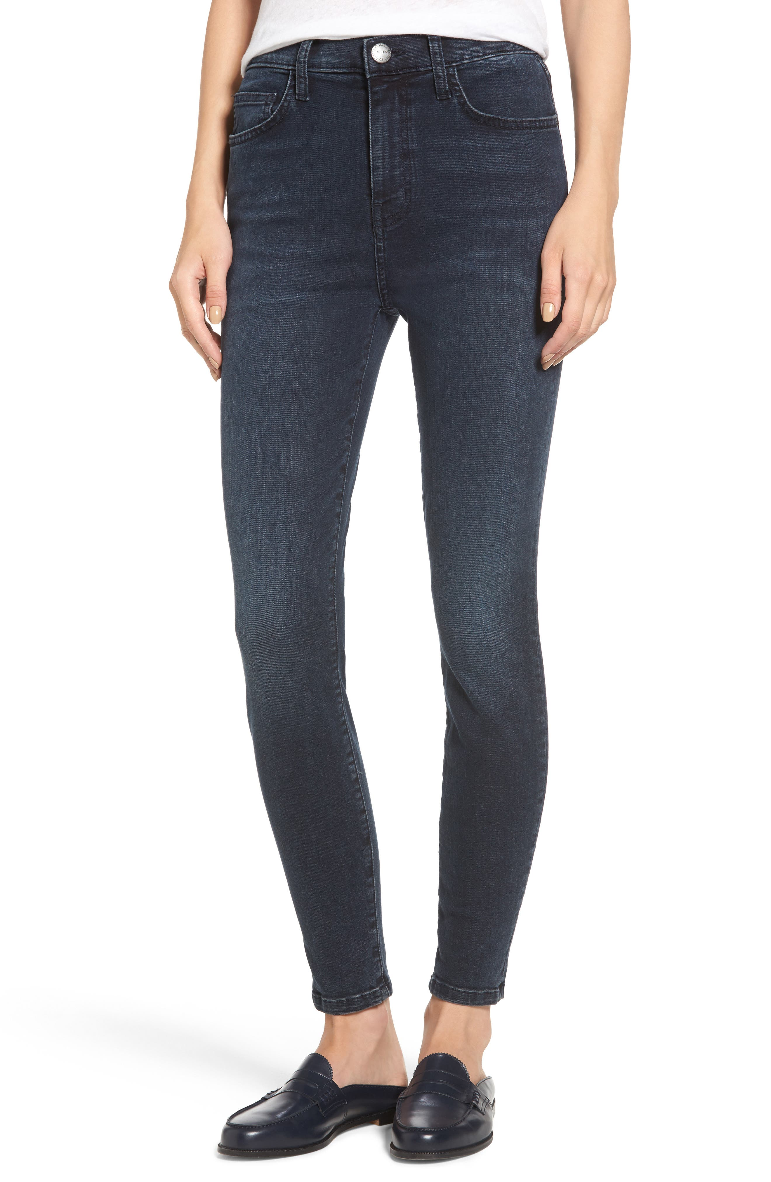 Current/Elliott The Super High Waist Stiletto Ankle Skinny Jeans (Tacoma)