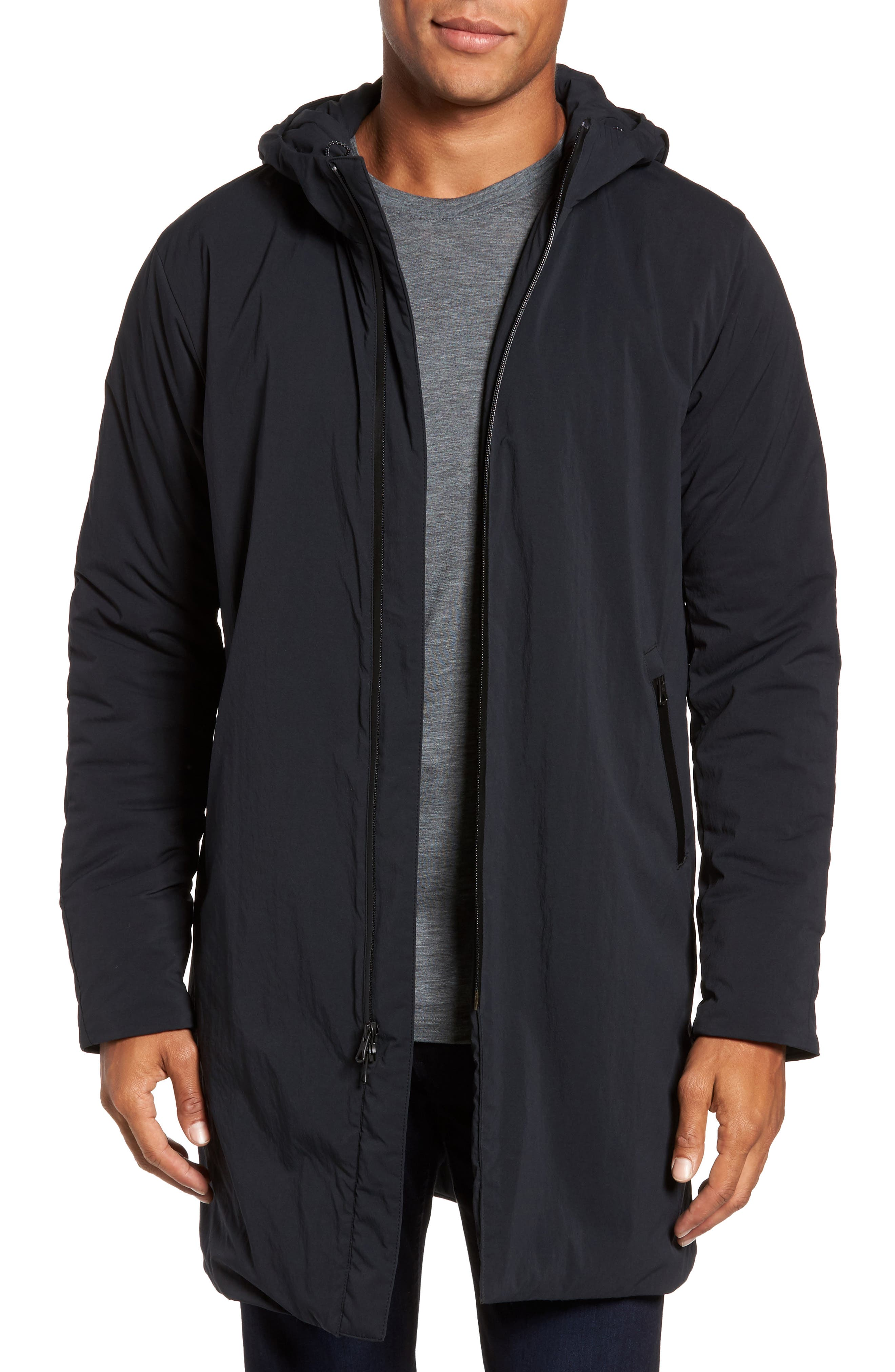 Insulated Trim Sideline Jacket,                             Main thumbnail 1, color,                             Black