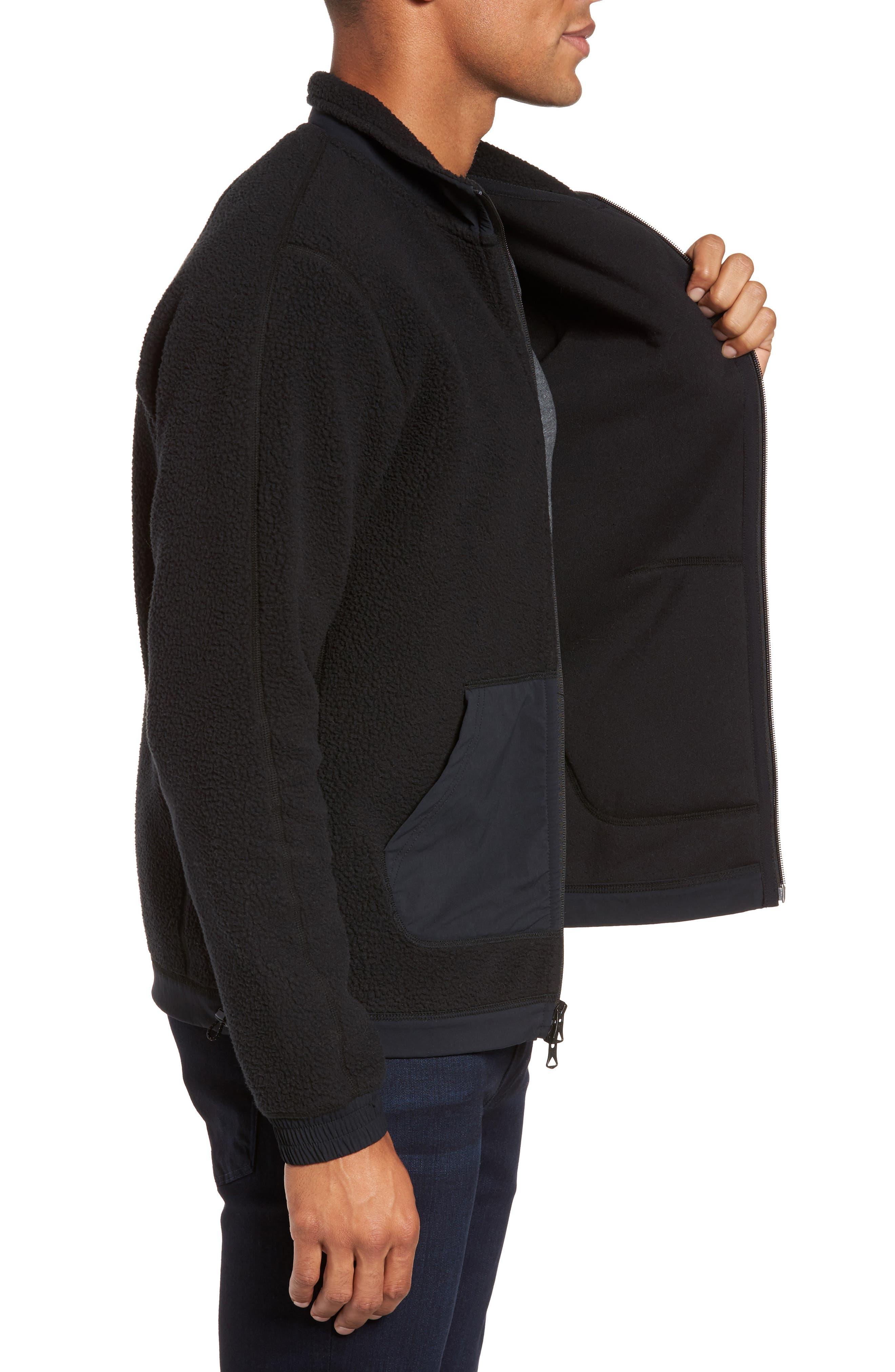 Trim Fit Trail Jacket,                             Alternate thumbnail 3, color,                             Black