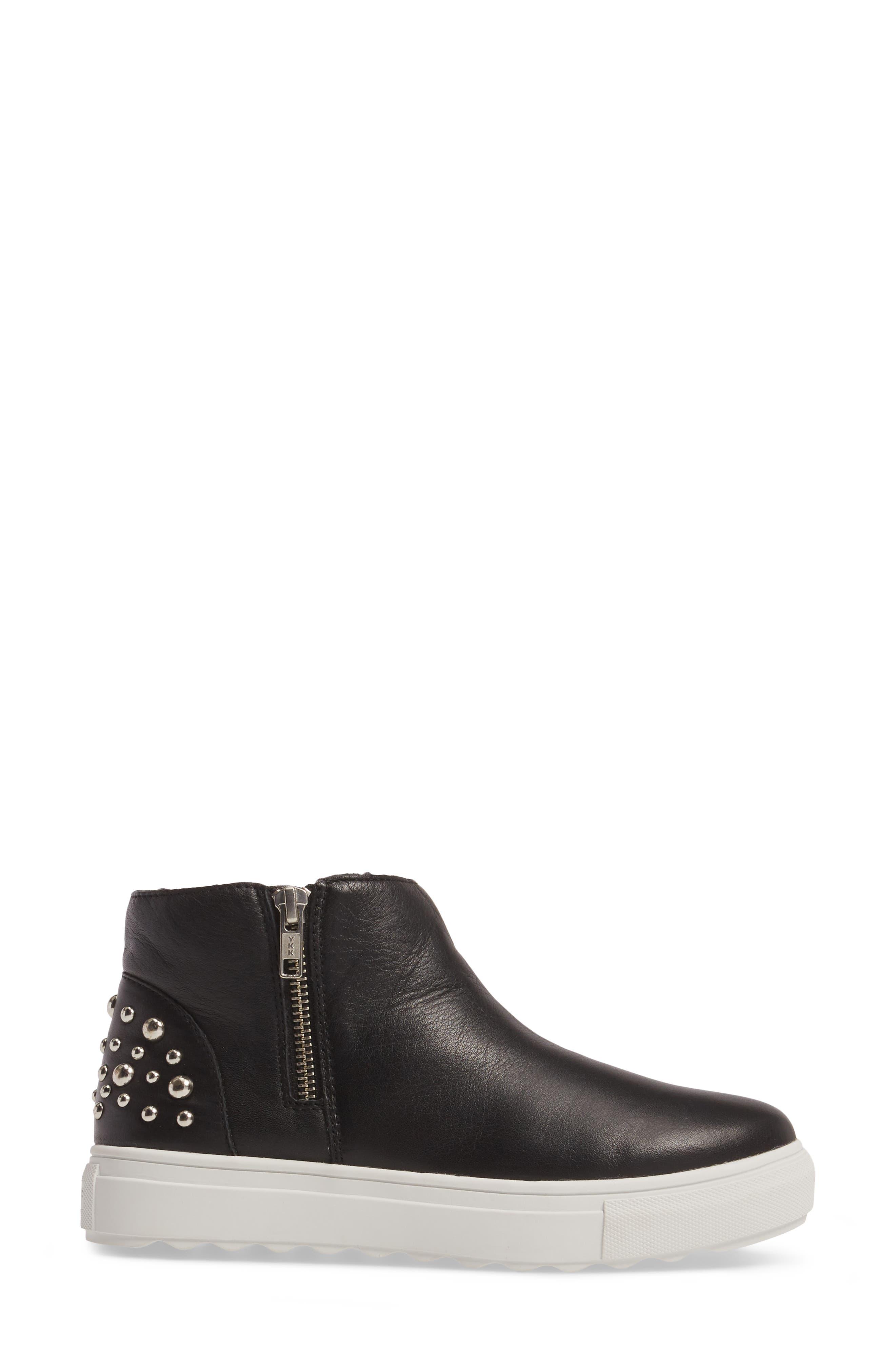 Pele Boot,                             Alternate thumbnail 3, color,                             Black Leather