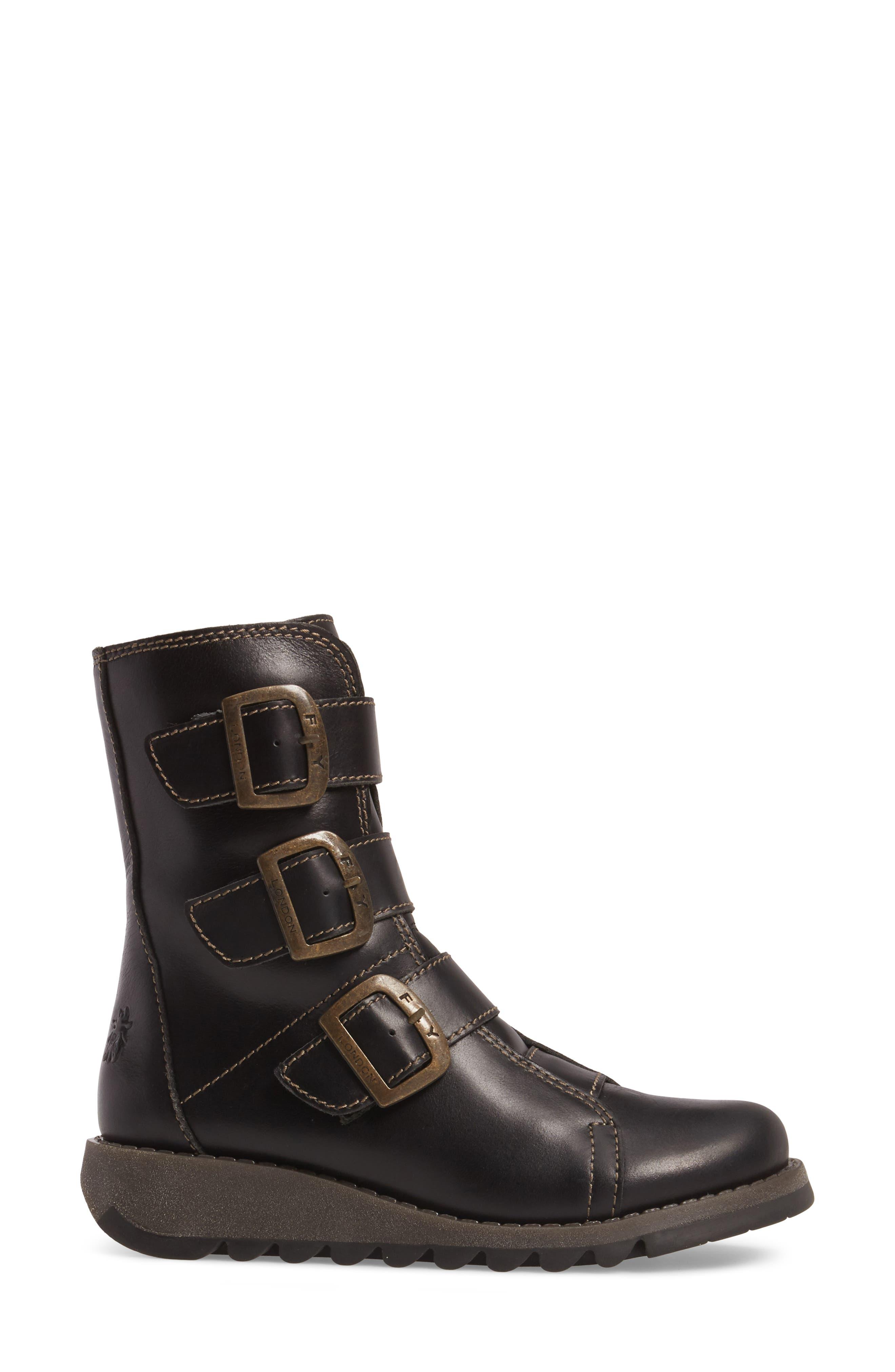Scop Boot,                             Alternate thumbnail 3, color,                             Black Leather