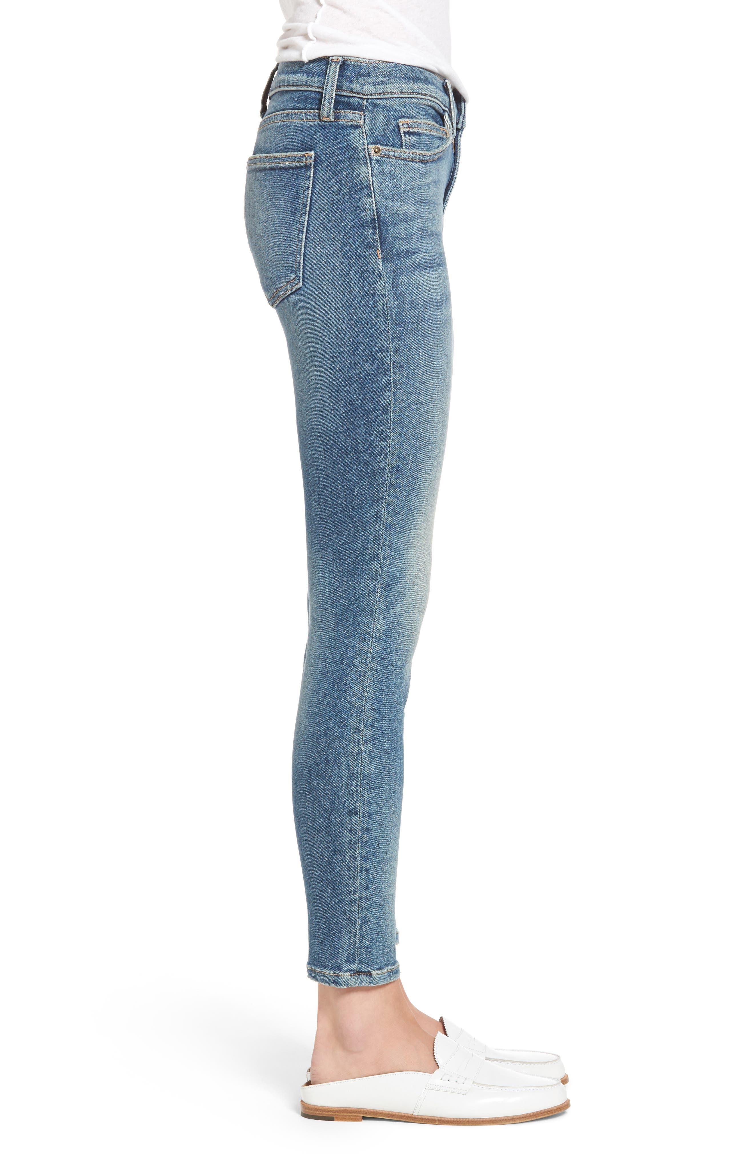 Alternate Image 3  - Current/Elliott The Stiletto Ankle Skinny Jeans (Ashurst)