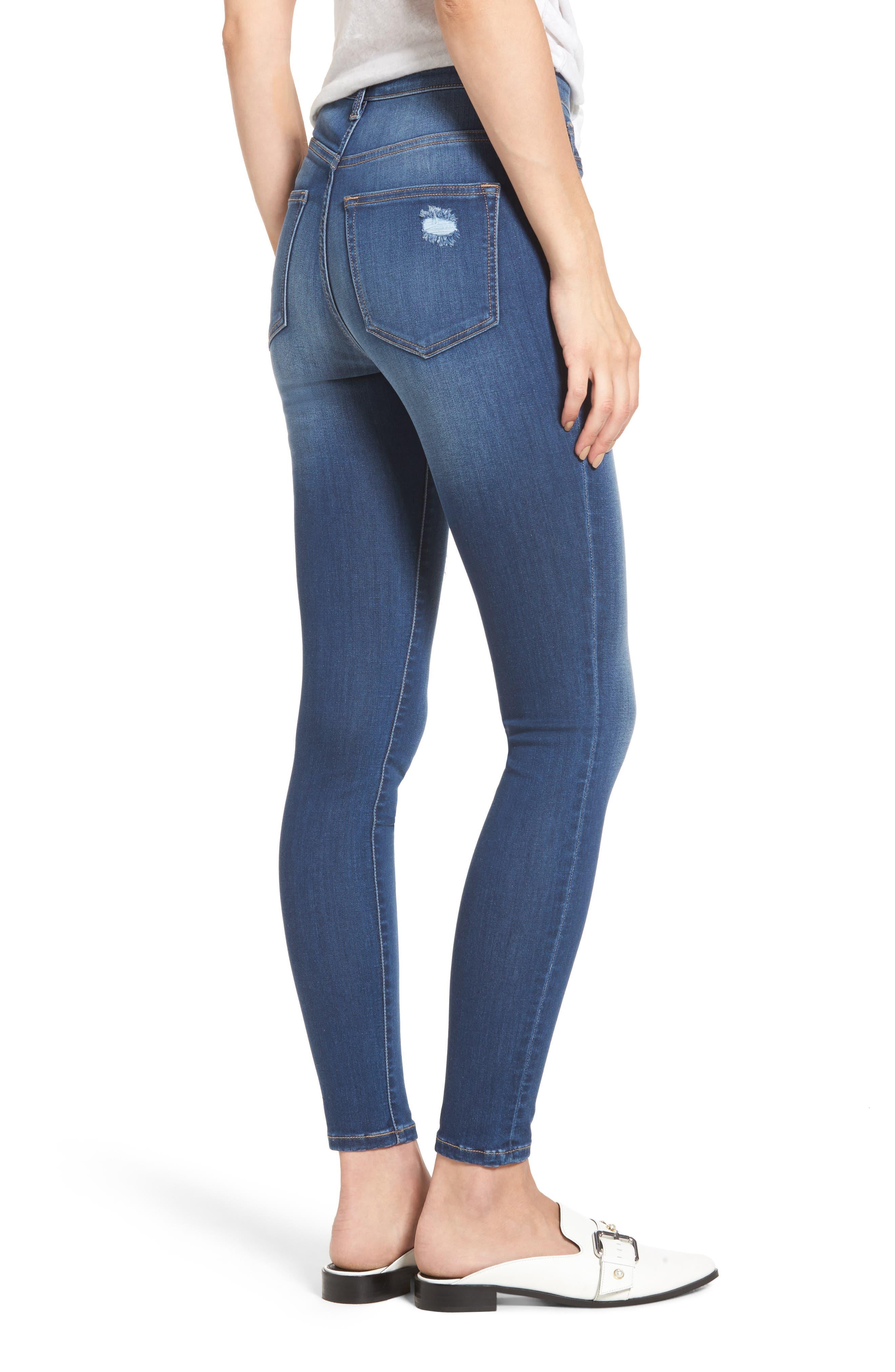 Alternate Image 2  - SP Black High Waist Skinny Jeans