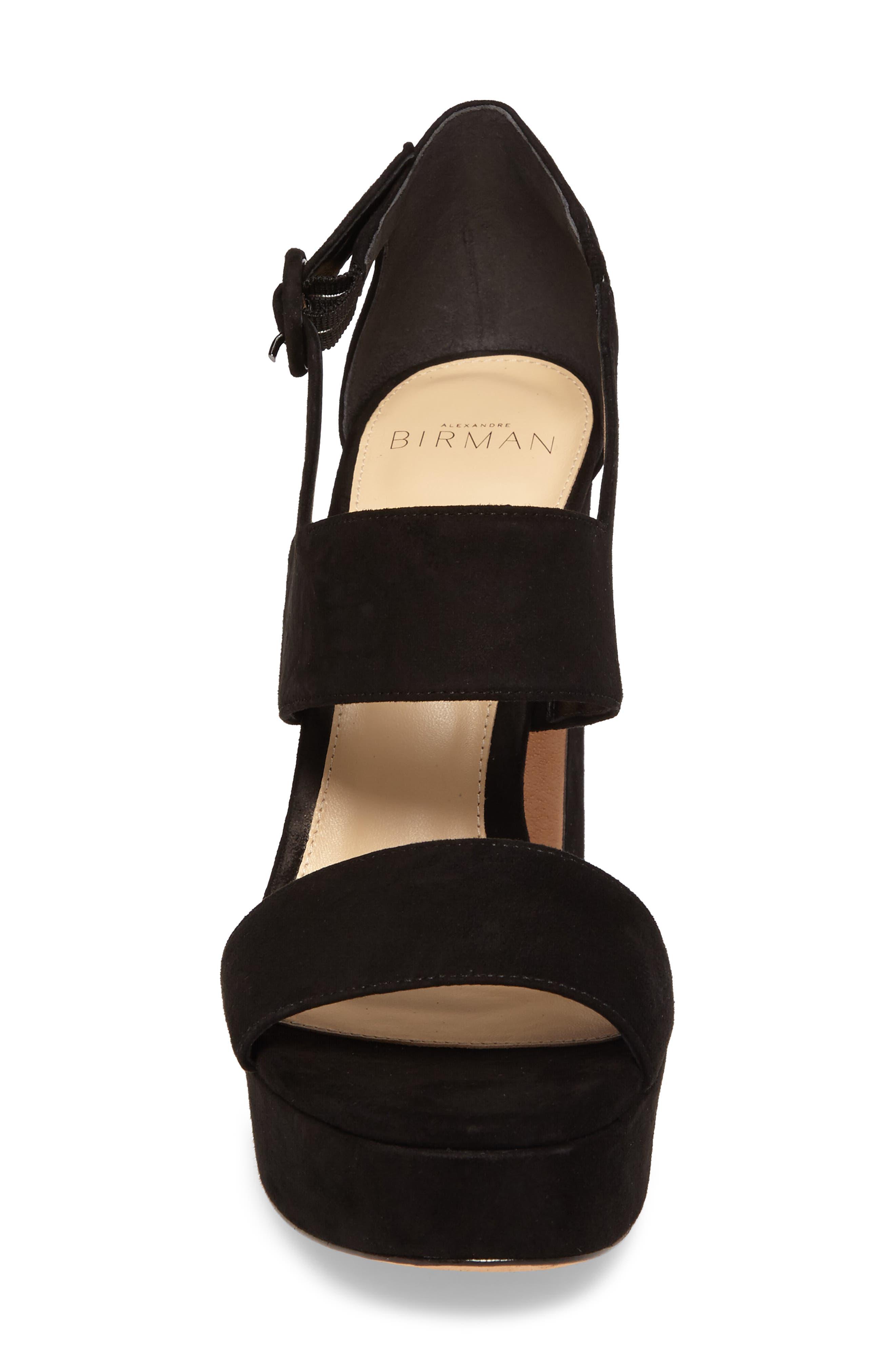 Elouise Platform Sandal,                             Alternate thumbnail 4, color,                             Black