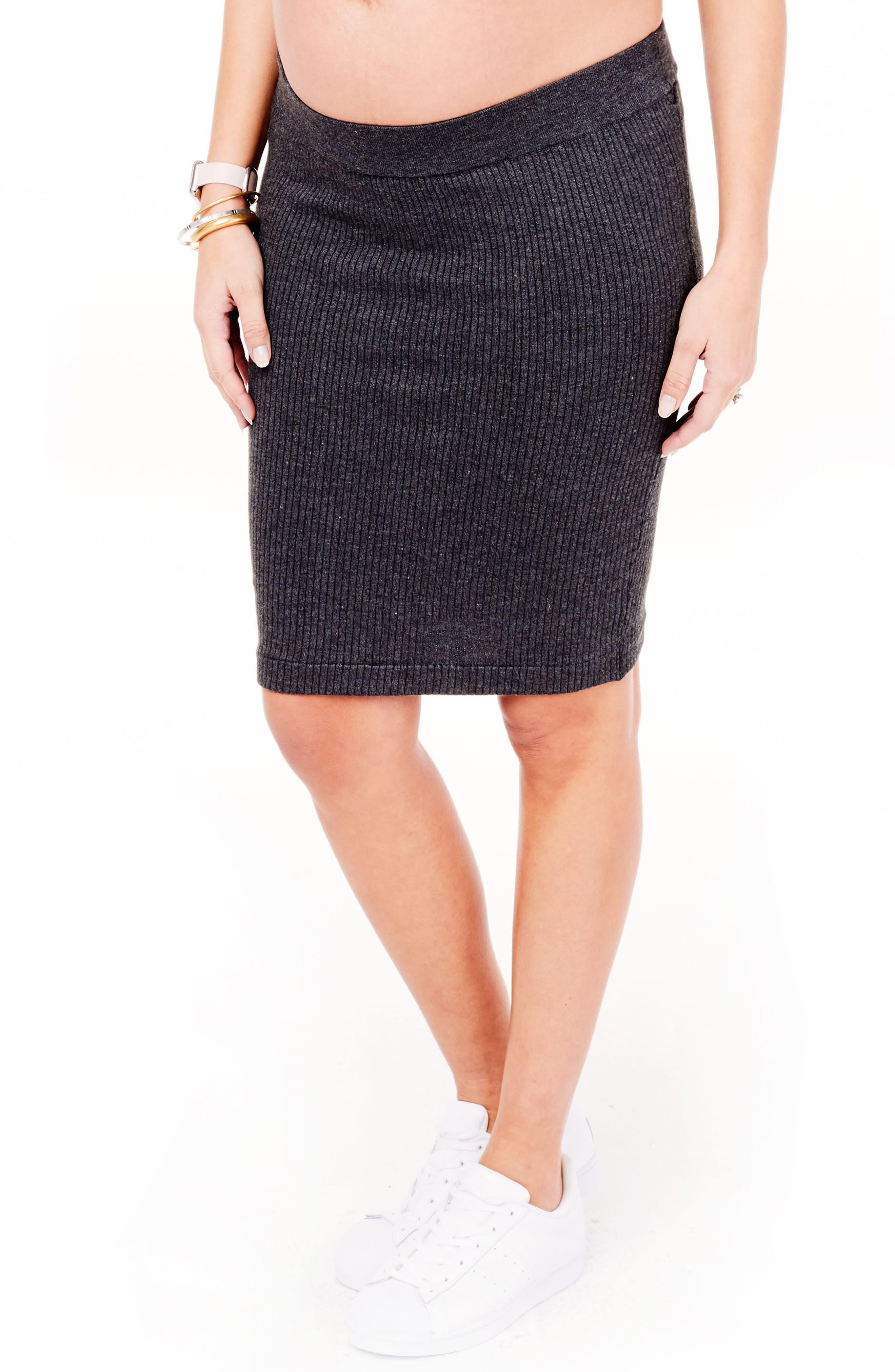 Alternate Image 4  - Ingrid & Isabel Ribbed Maternity Sweater Skirt