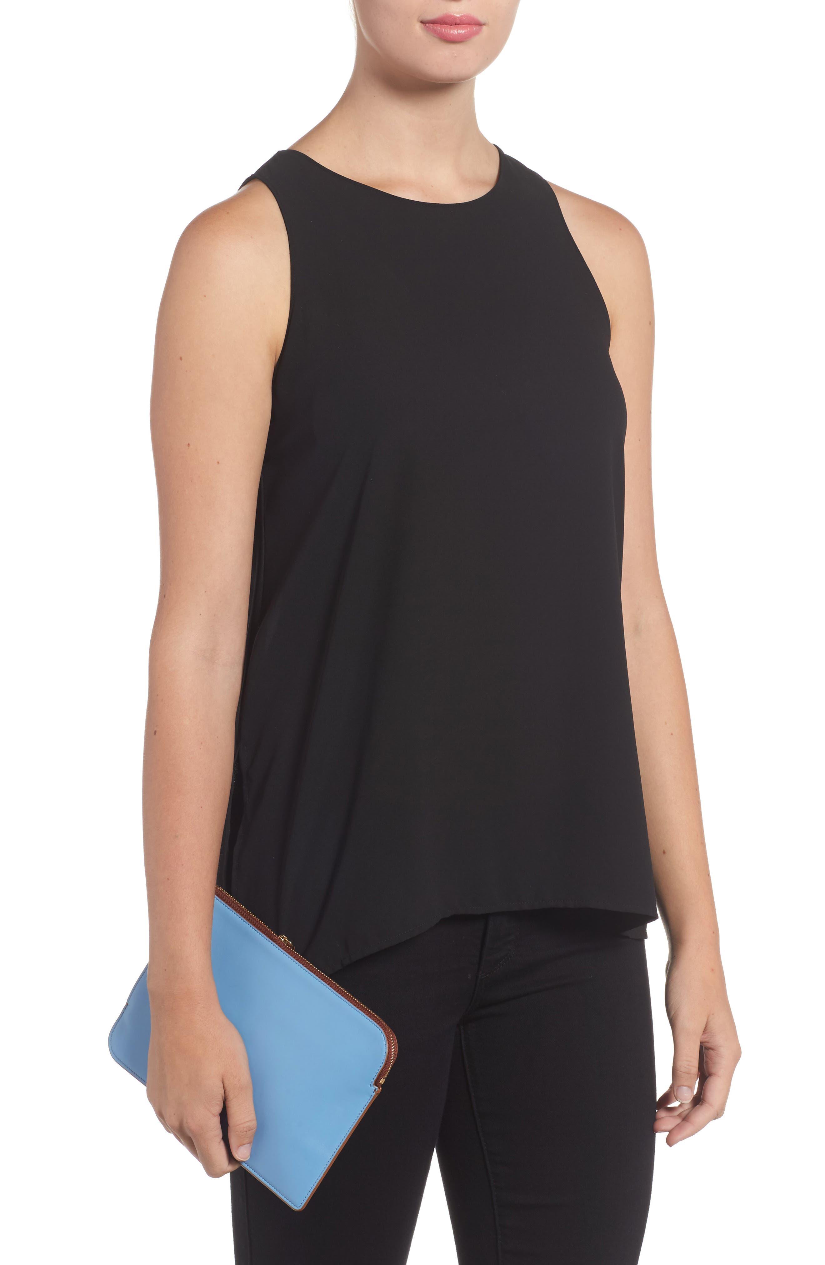 Alternate Image 2  - Diane von Furstenberg Medium Leather Zip Pouch