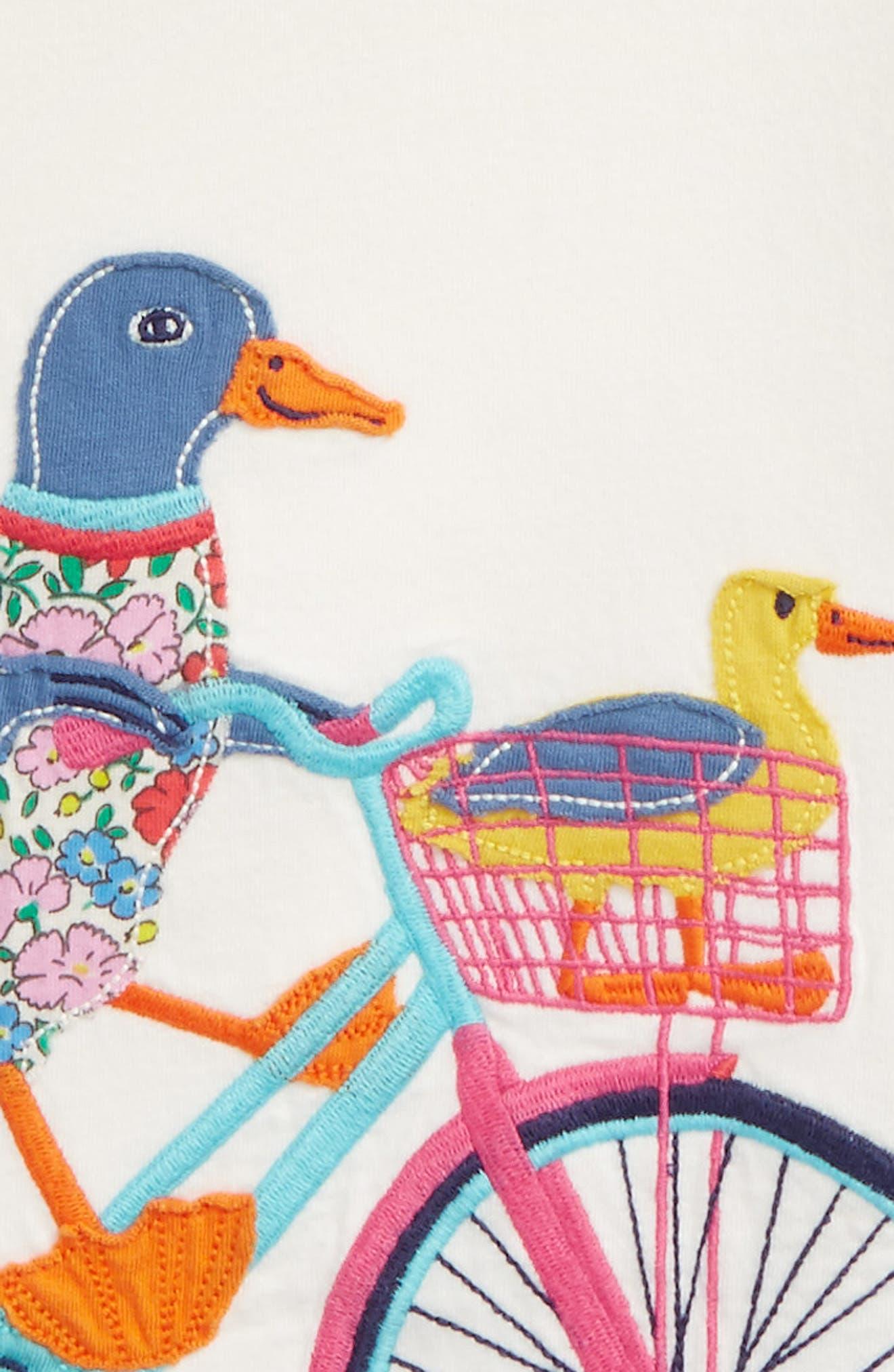 Patchwork Appliqué Tee,                             Alternate thumbnail 2, color,                             Ivory Ducks