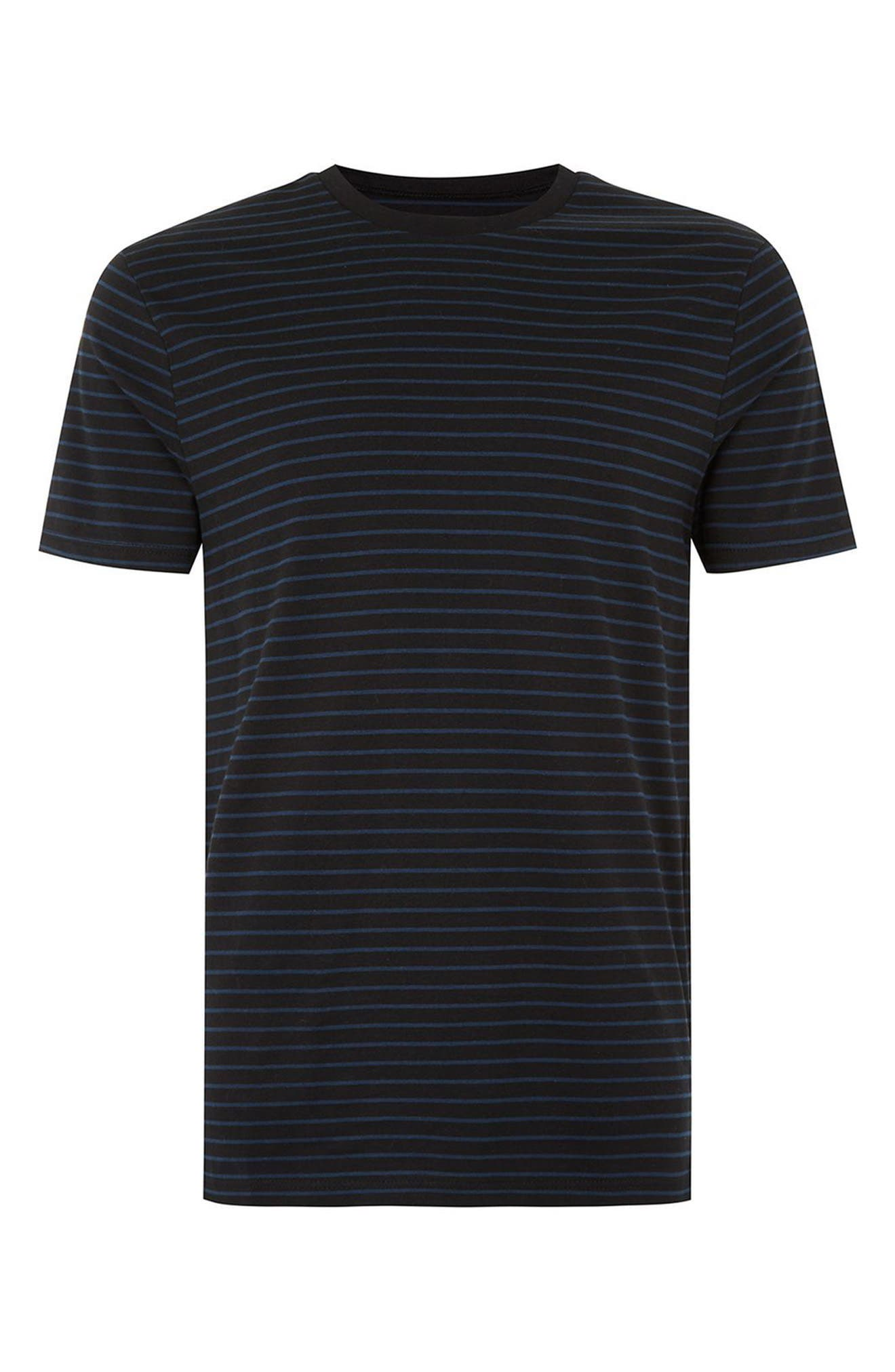 Alternate Image 4  - Topman Slim Fit Stripe T-Shirt