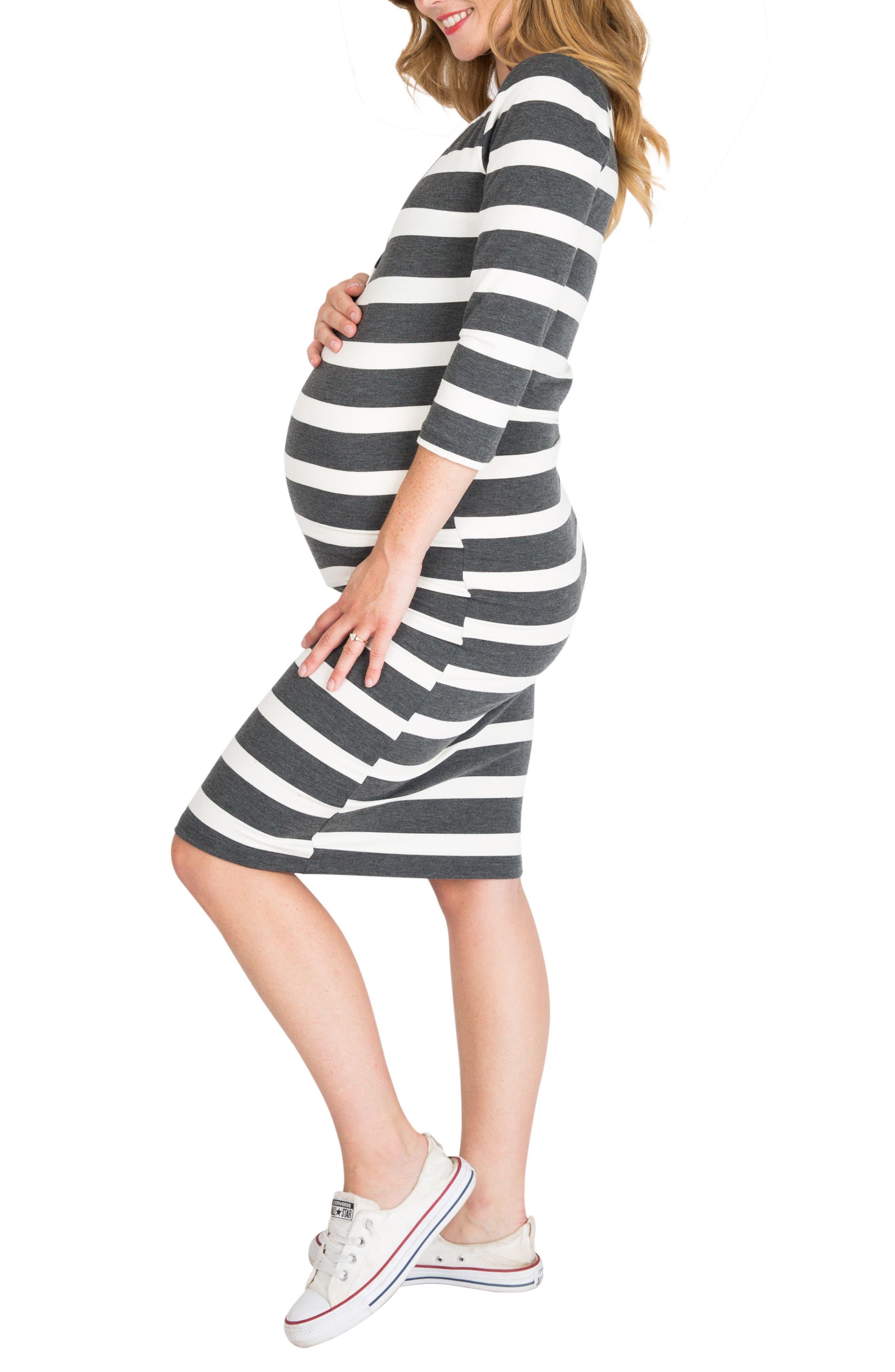 Alternate Image 3  - Nom Maternity Snap Maternity/Nursing Dress