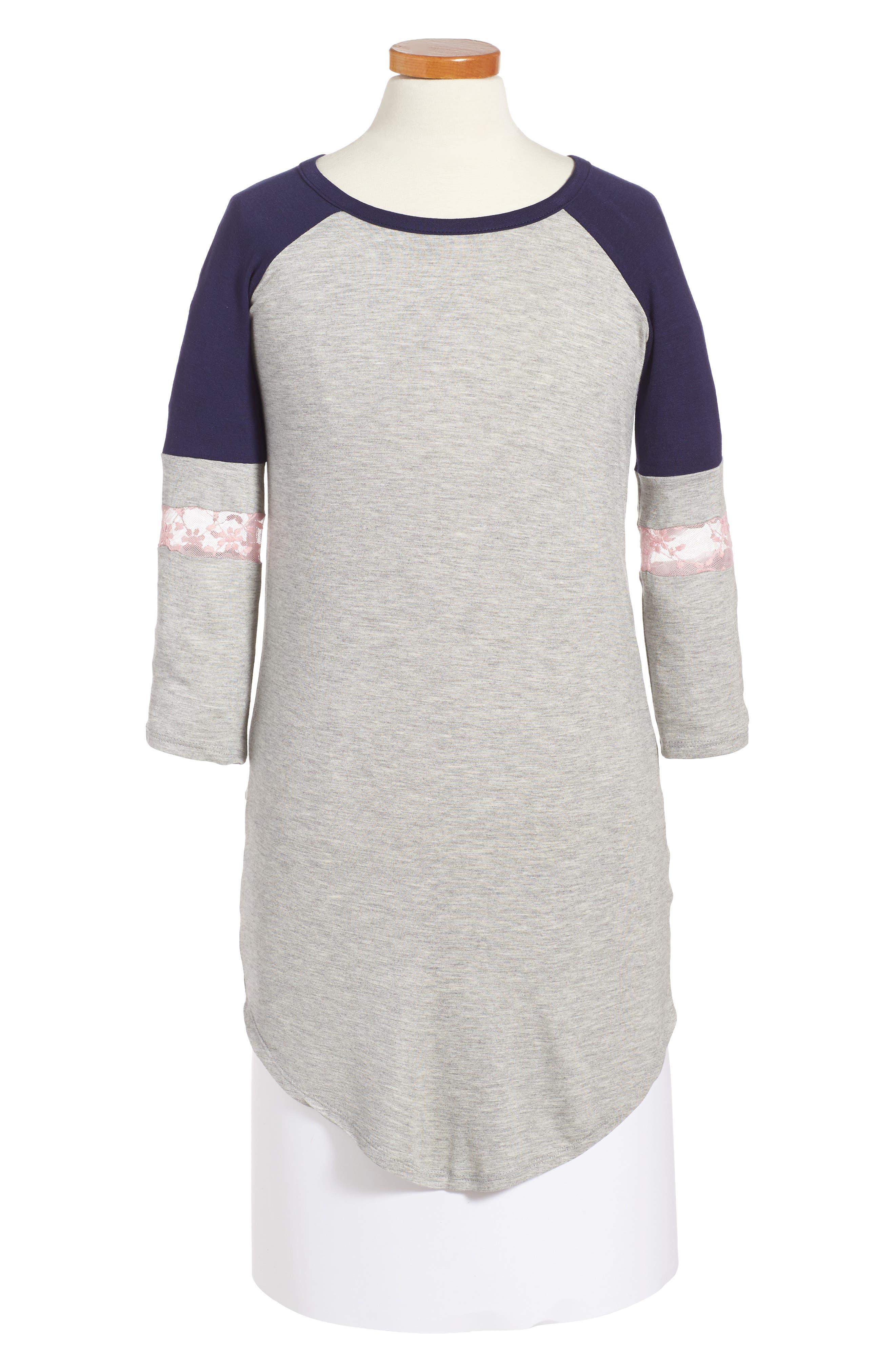 Love, Fire Baseball T-Shirt Dress (Big Girls)